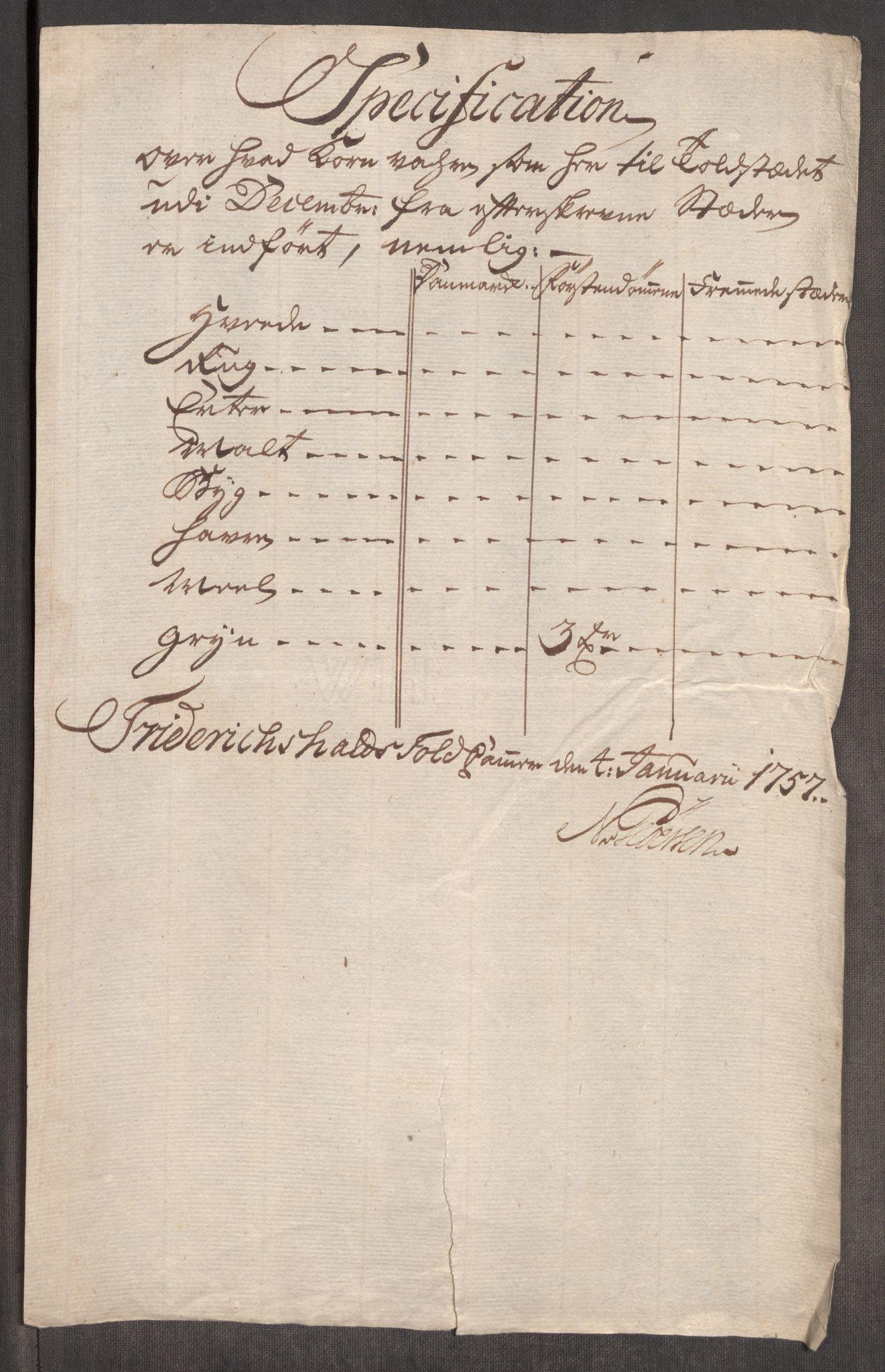 RA, Rentekammeret inntil 1814, Realistisk ordnet avdeling, Oe/L0005: [Ø1]: Priskuranter, 1753-1757, s. 582