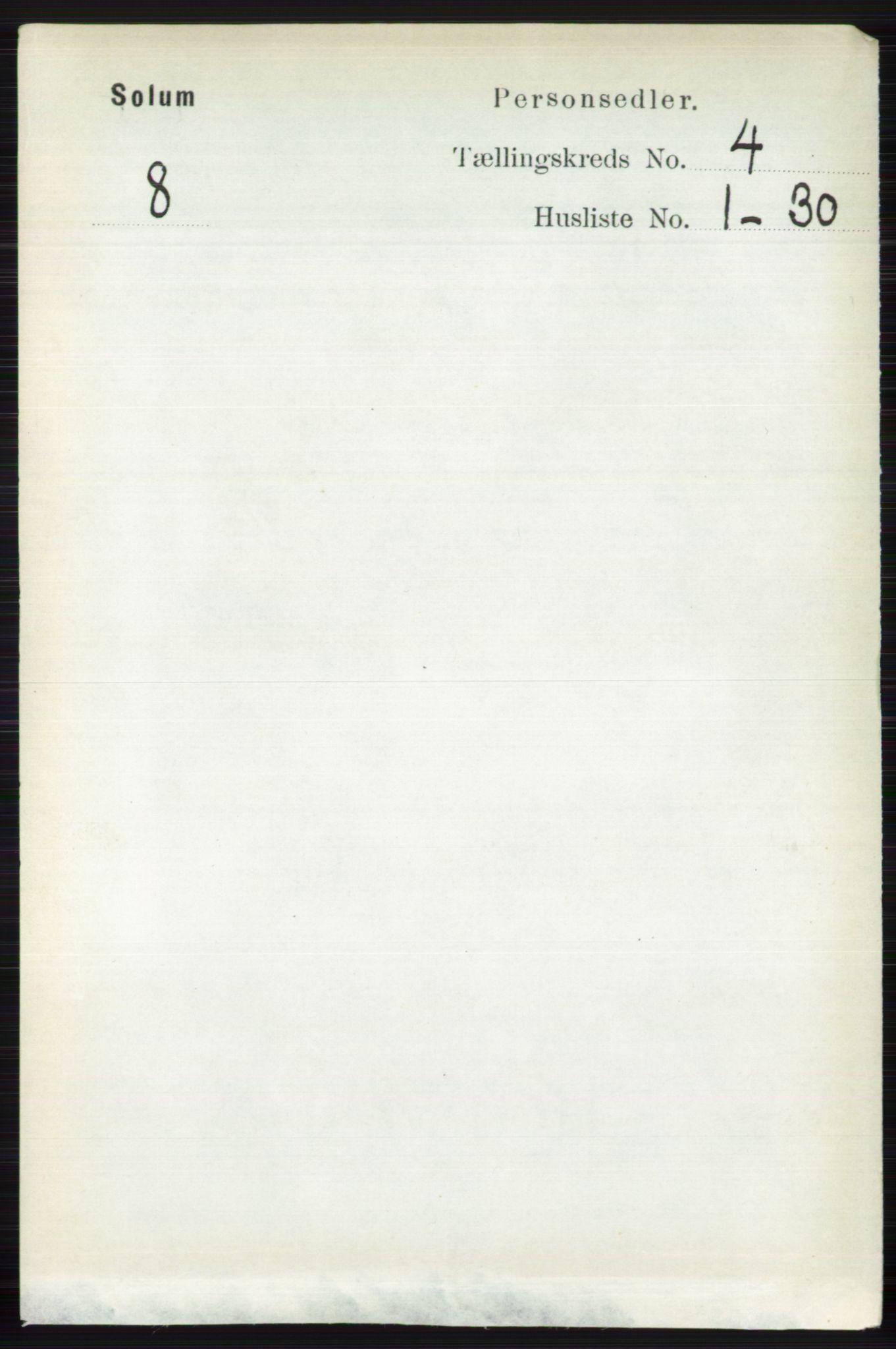 RA, Folketelling 1891 for 0818 Solum herred, 1891, s. 619