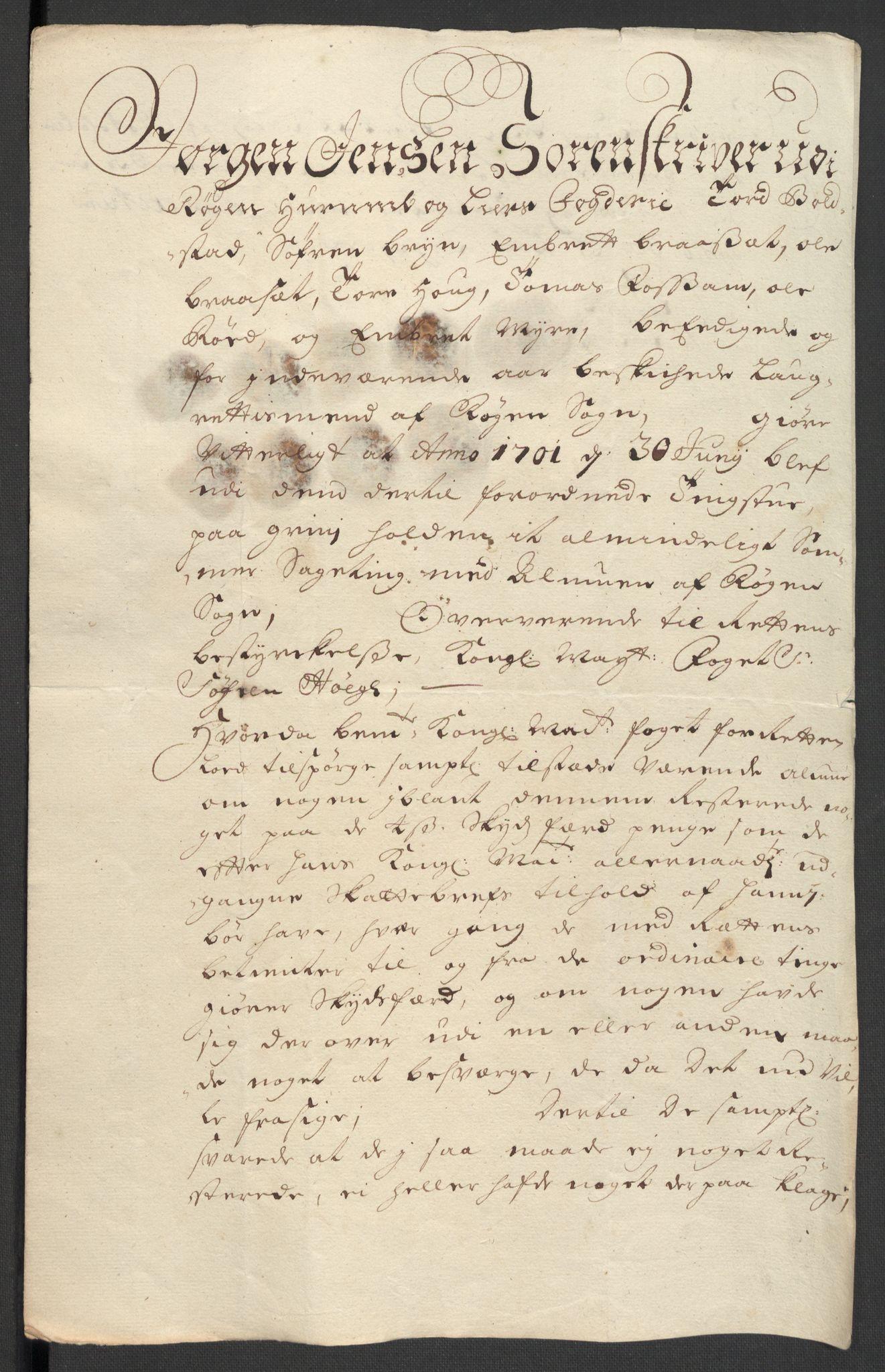 RA, Rentekammeret inntil 1814, Reviderte regnskaper, Fogderegnskap, R30/L1696: Fogderegnskap Hurum, Røyken, Eiker og Lier, 1698-1699, s. 479