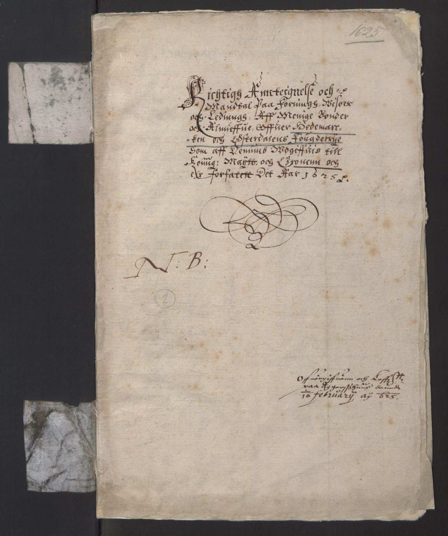 RA, Stattholderembetet 1572-1771, Ek/L0001: Jordebøker før 1624 og til utligning av garnisonsskatt 1624-1626:, 1624-1625, s. 42