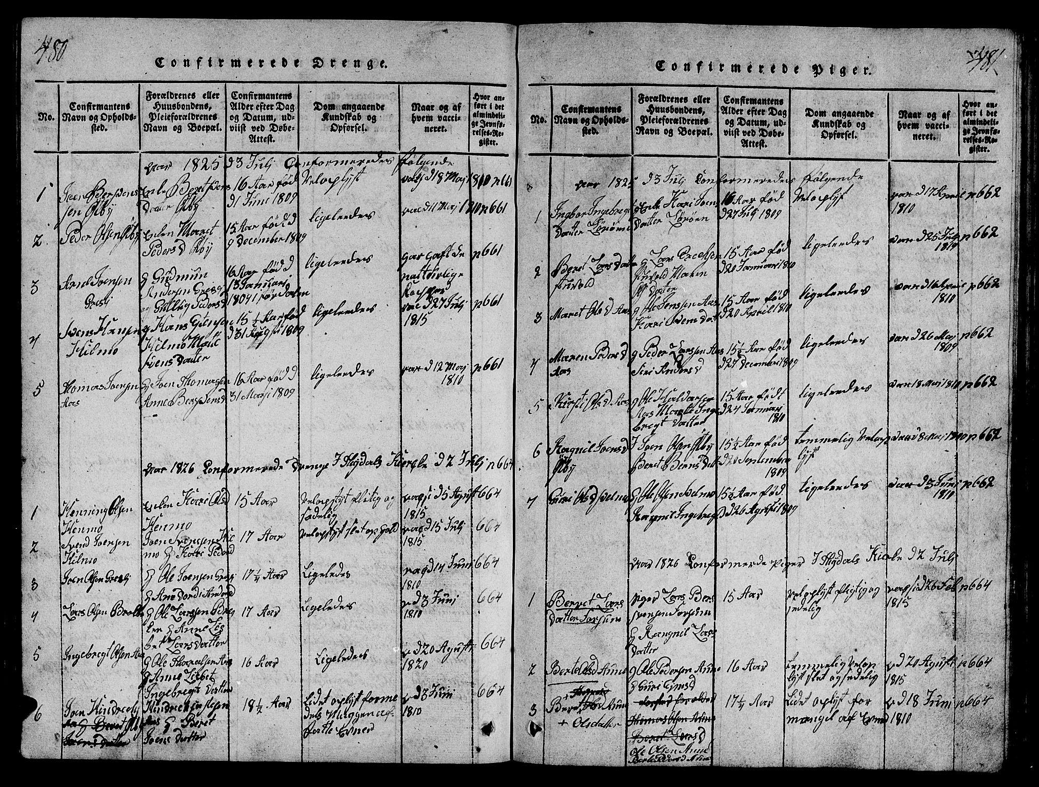 SAT, Ministerialprotokoller, klokkerbøker og fødselsregistre - Sør-Trøndelag, 698/L1164: Klokkerbok nr. 698C01, 1816-1861, s. 480-481