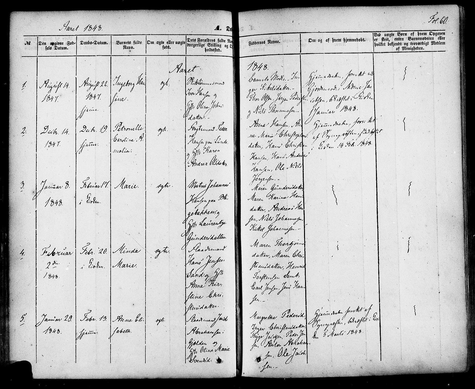 SAKO, Skien kirkebøker, F/Fa/L0006a: Ministerialbok nr. 6A, 1843-1856, s. 60