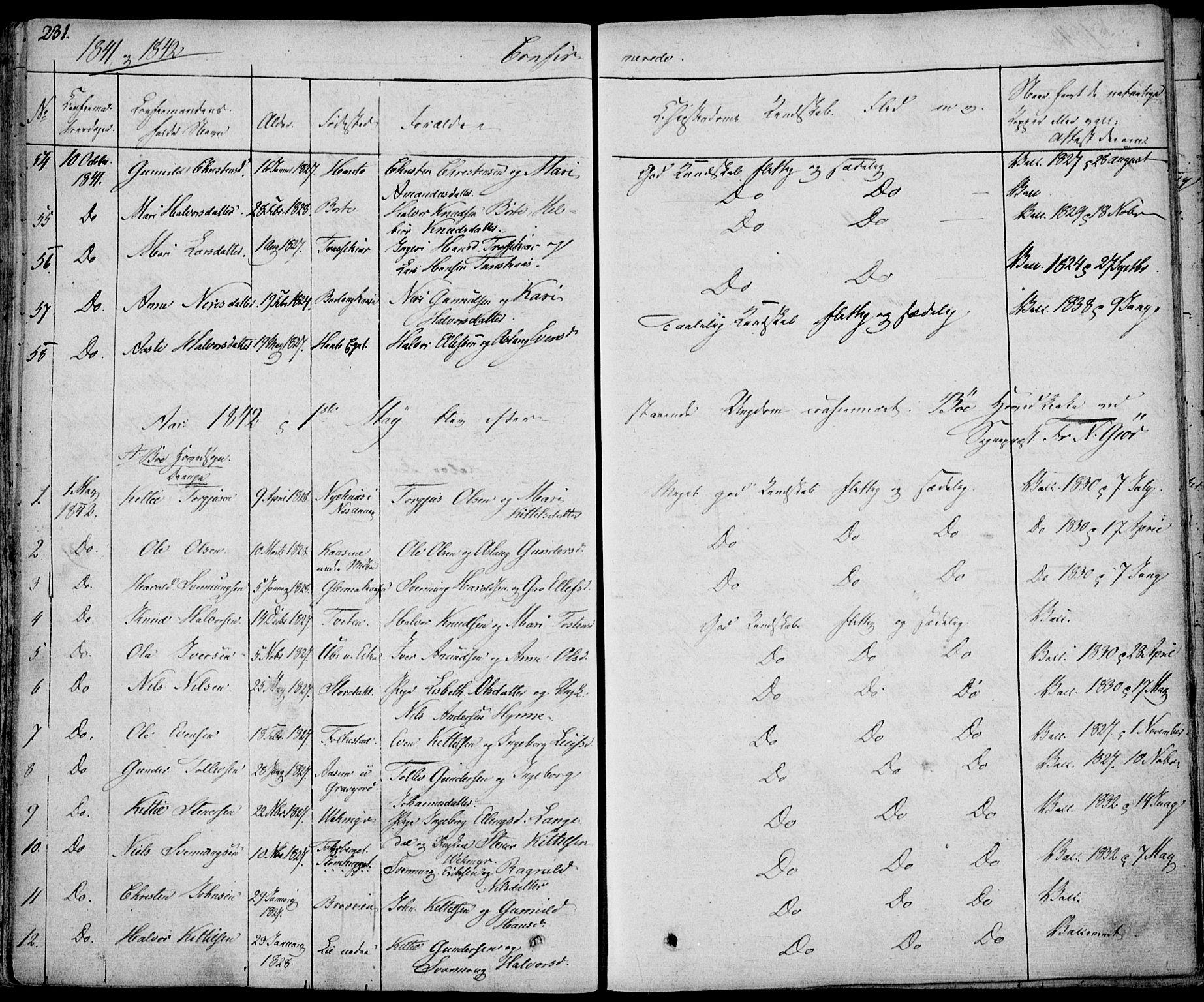 SAKO, Bø kirkebøker, F/Fa/L0007: Ministerialbok nr. 7, 1831-1848, s. 231