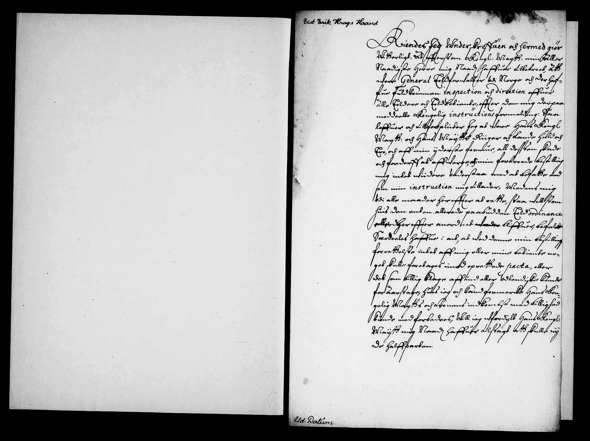 RA, Danske Kanselli, Skapsaker, G/L0019: Tillegg til skapsakene, 1616-1753, s. 152