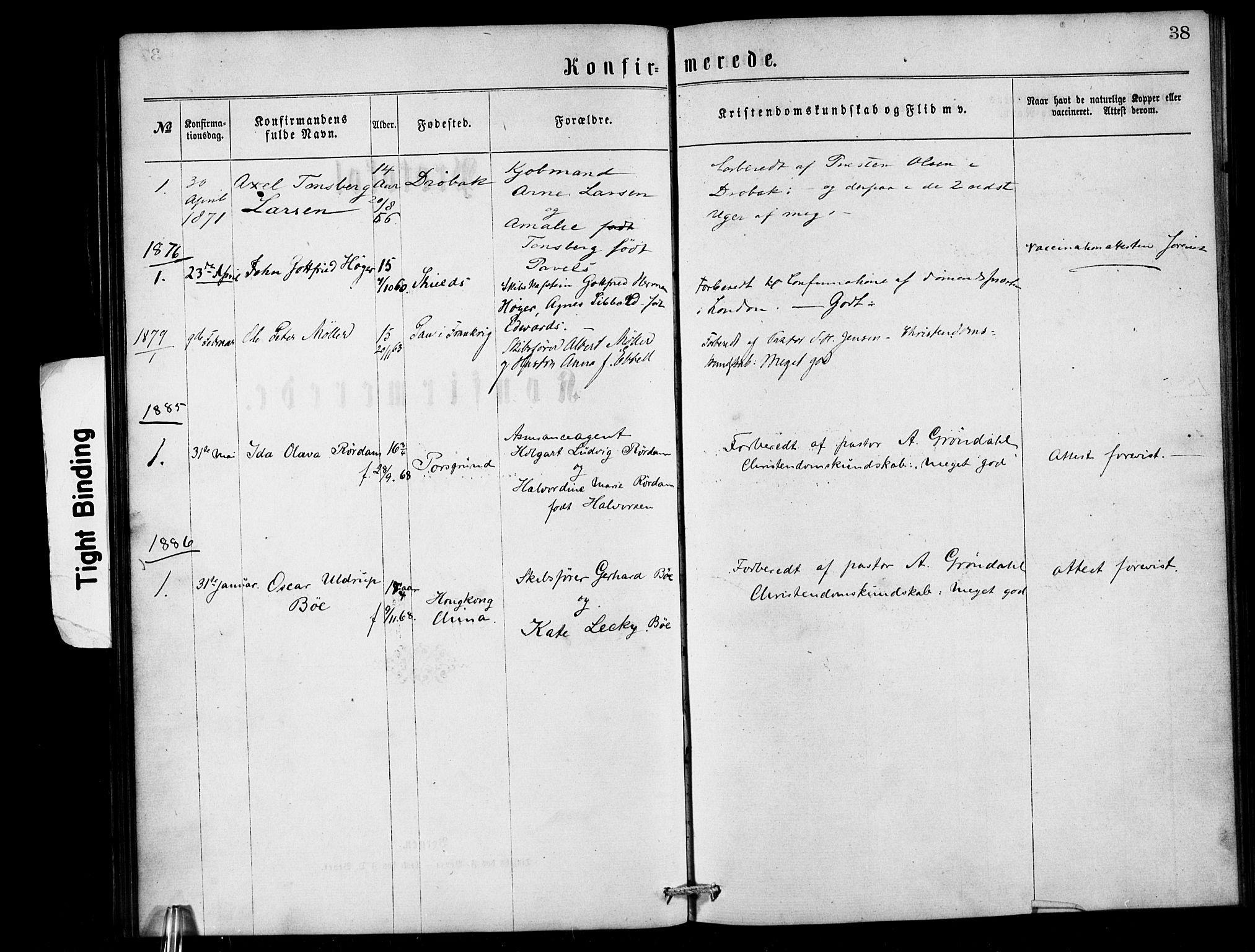 SAB, Den Norske Sjømannsmisjon i utlandet*, Ministerialbok nr. A 1, 1868-1887, s. 38