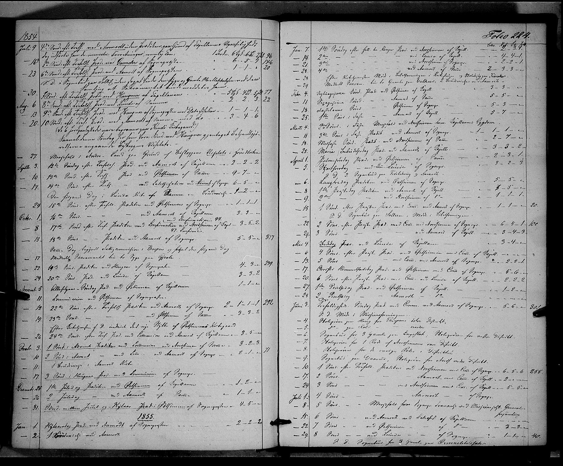 SAH, Land prestekontor, Ministerialbok nr. 10, 1847-1859, s. 224