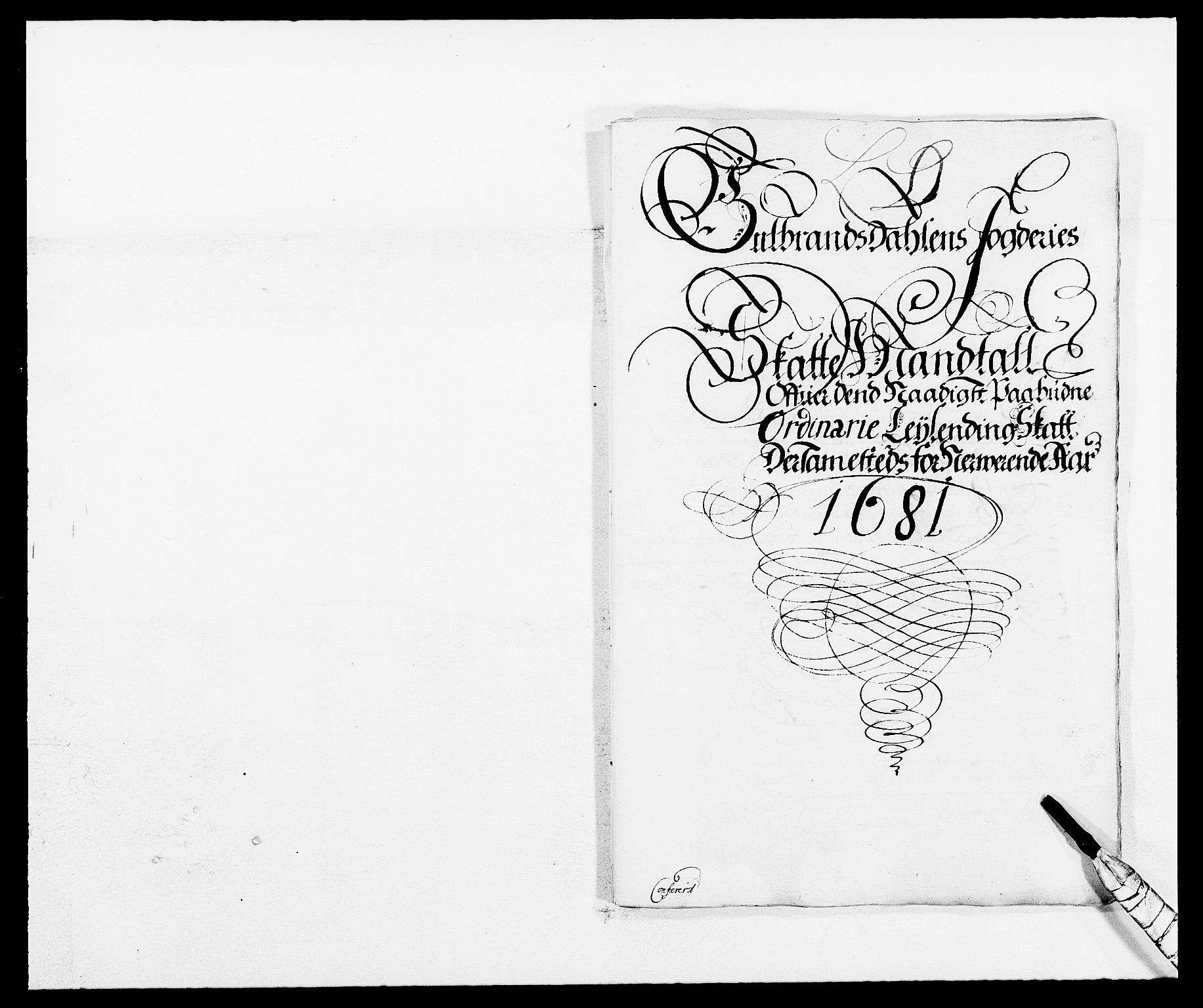 RA, Rentekammeret inntil 1814, Reviderte regnskaper, Fogderegnskap, R17/L1156: Fogderegnskap Gudbrandsdal, 1681, s. 1