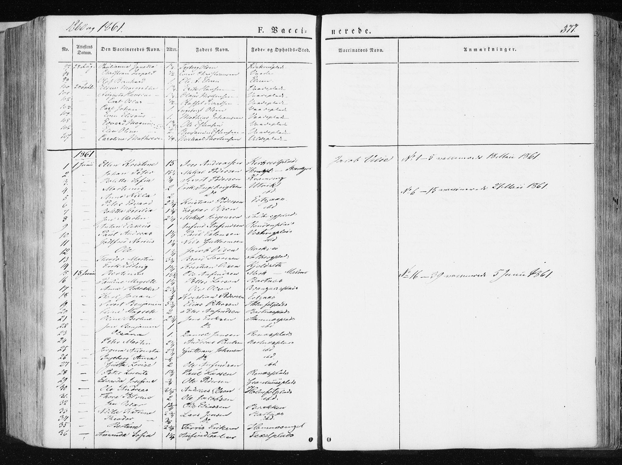 SAT, Ministerialprotokoller, klokkerbøker og fødselsregistre - Nord-Trøndelag, 741/L0393: Ministerialbok nr. 741A07, 1849-1863, s. 377