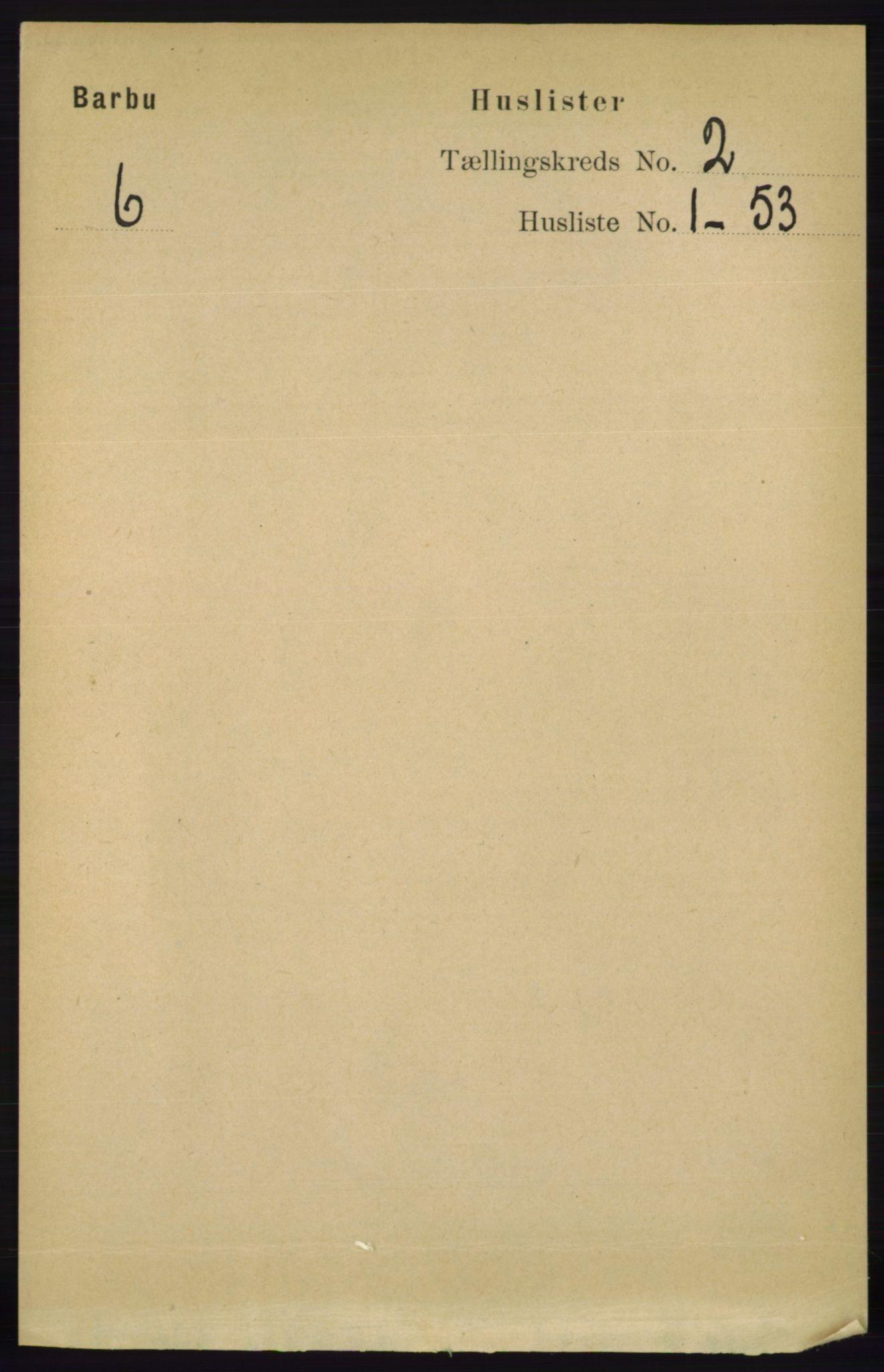 RA, Folketelling 1891 for 0990 Barbu herred, 1891, s. 842