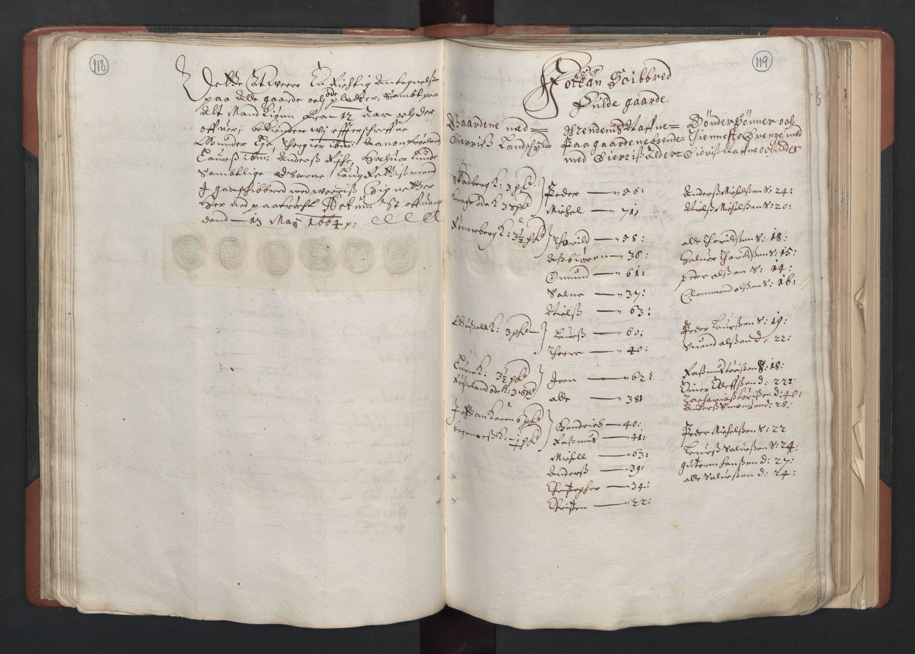 RA, Fogdenes og sorenskrivernes manntall 1664-1666, nr. 11: Jæren og Dalane fogderi, 1664, s. 118-119