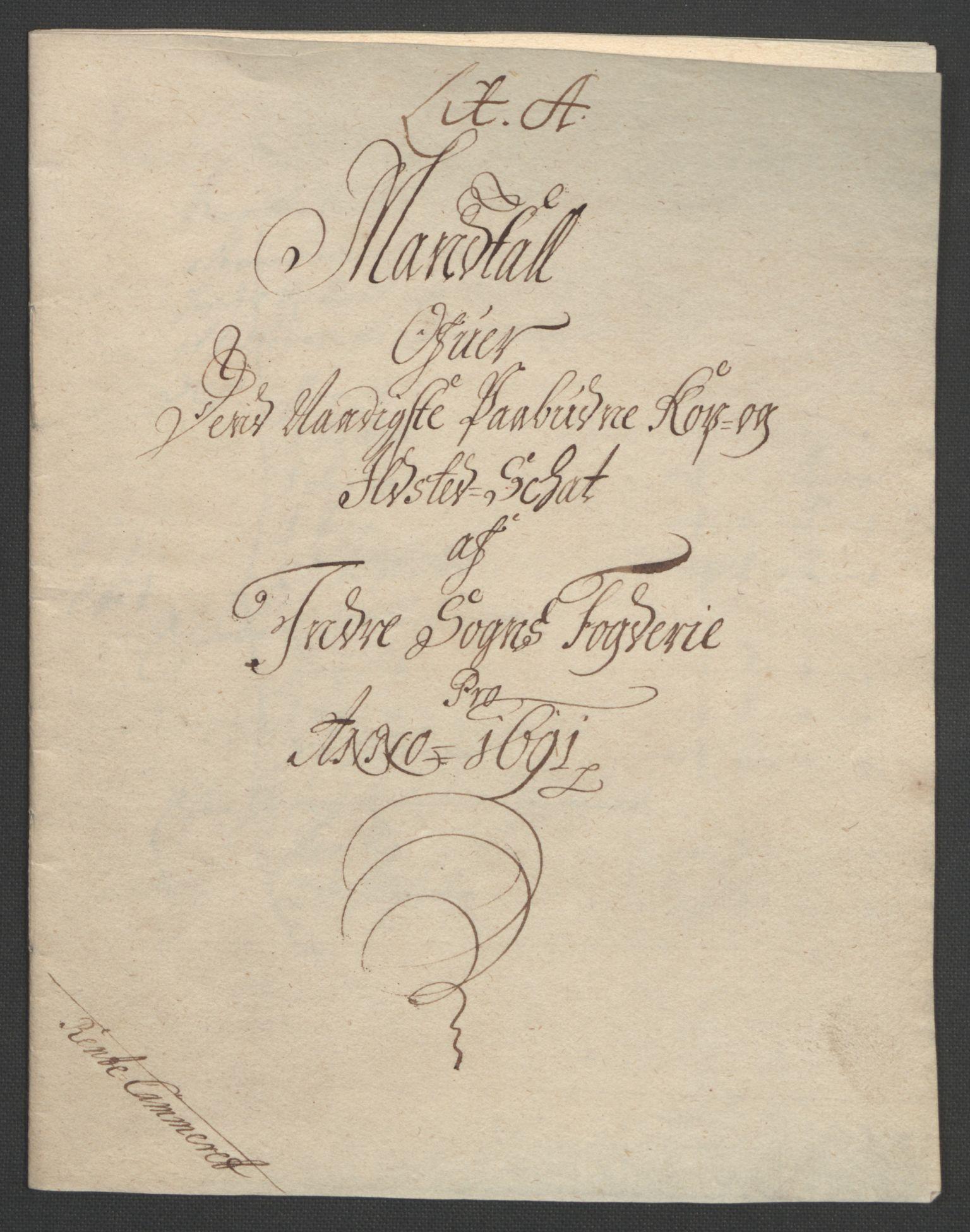 RA, Rentekammeret inntil 1814, Reviderte regnskaper, Fogderegnskap, R52/L3306: Fogderegnskap Sogn, 1691-1692, s. 10