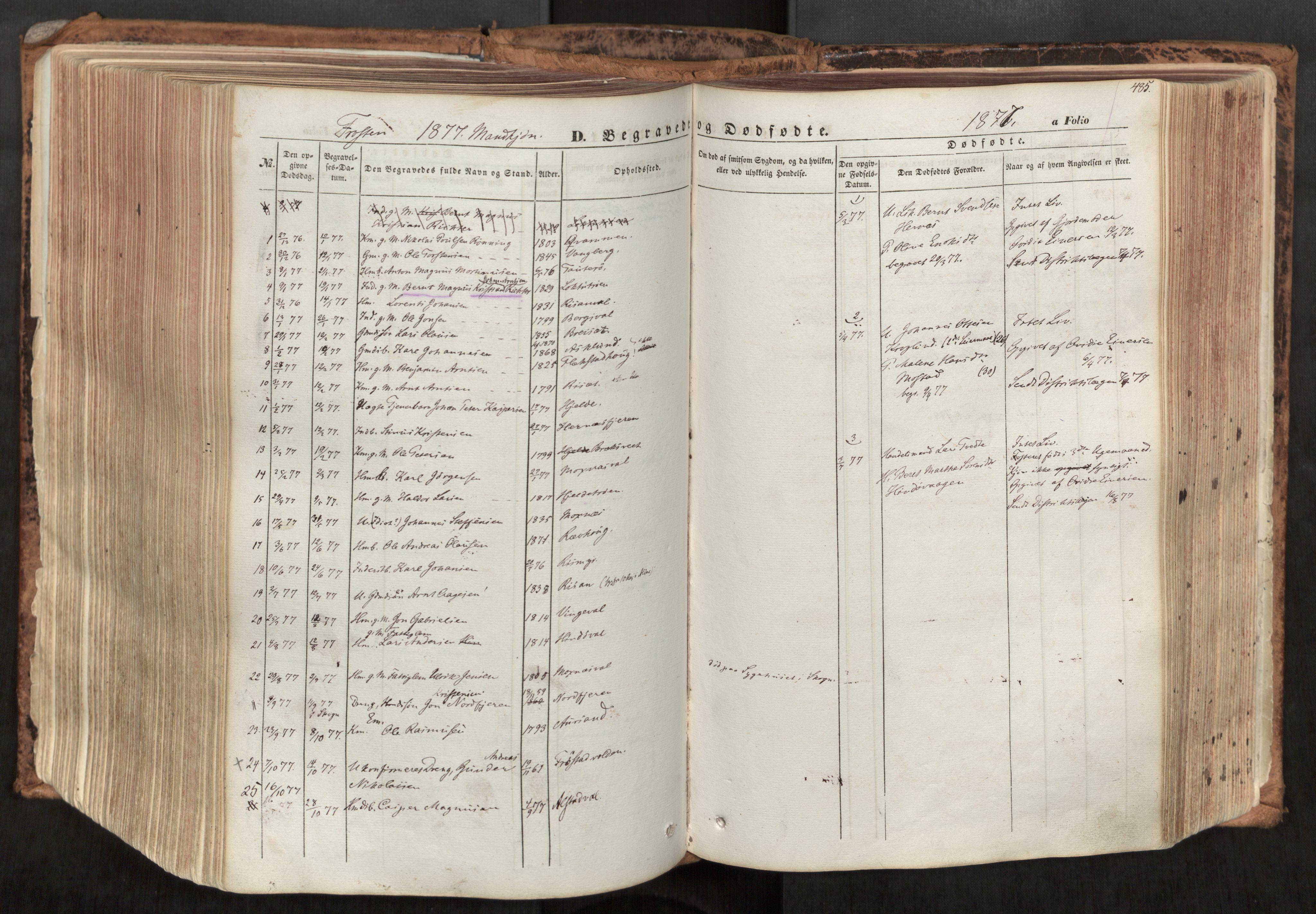 SAT, Ministerialprotokoller, klokkerbøker og fødselsregistre - Nord-Trøndelag, 713/L0116: Ministerialbok nr. 713A07, 1850-1877, s. 485