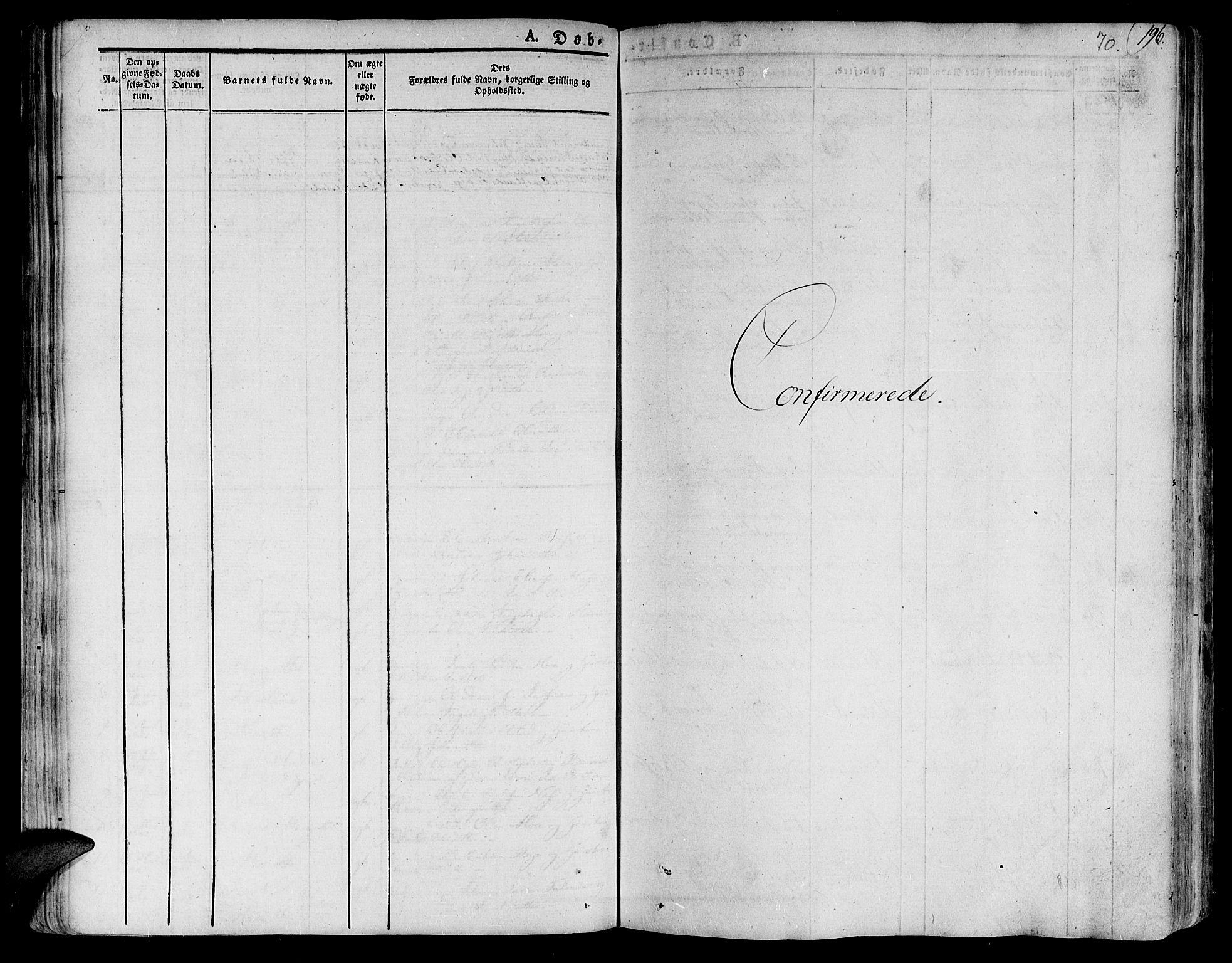 SAT, Ministerialprotokoller, klokkerbøker og fødselsregistre - Nord-Trøndelag, 758/L0510: Ministerialbok nr. 758A01 /1, 1821-1841, s. 70