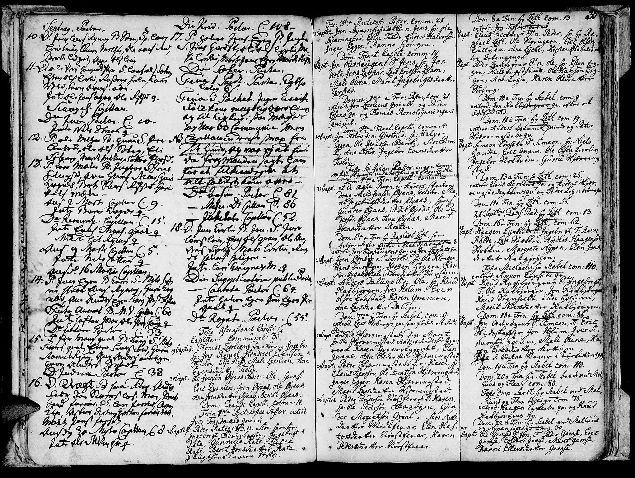 SAT, Ministerialprotokoller, klokkerbøker og fødselsregistre - Sør-Trøndelag, 691/L1057: Ministerialbok nr. 691A01 /1, 1740-1767, s. 35