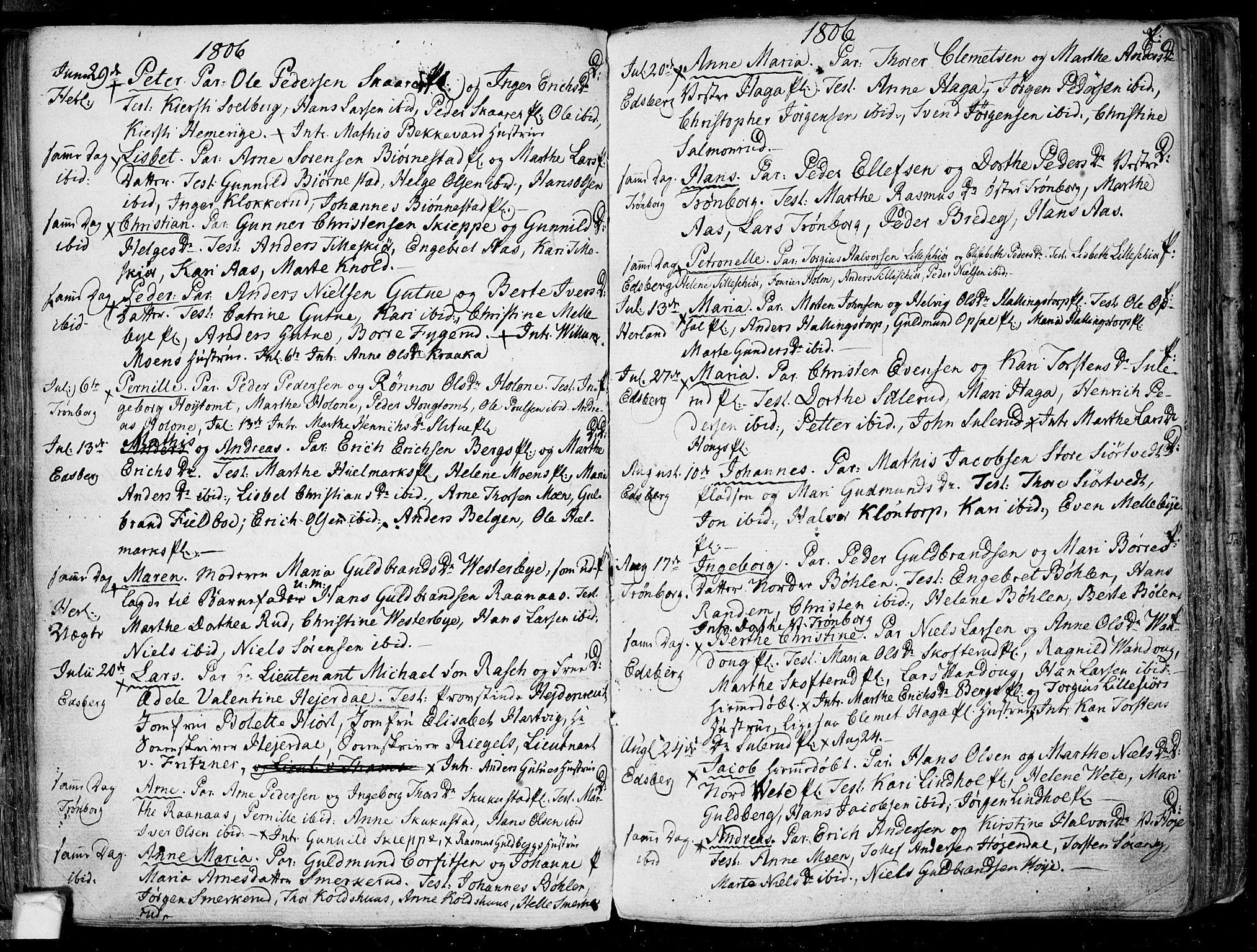 SAO, Eidsberg prestekontor Kirkebøker, F/Fa/L0005: Ministerialbok nr. I 5, 1786-1807, s. 92
