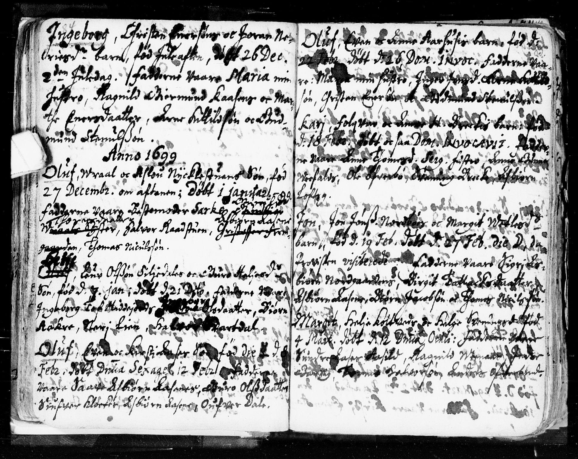 SAKO, Seljord kirkebøker, F/Fa/L0002: Ministerialbok nr. I 2, 1689-1713, s. 84-85