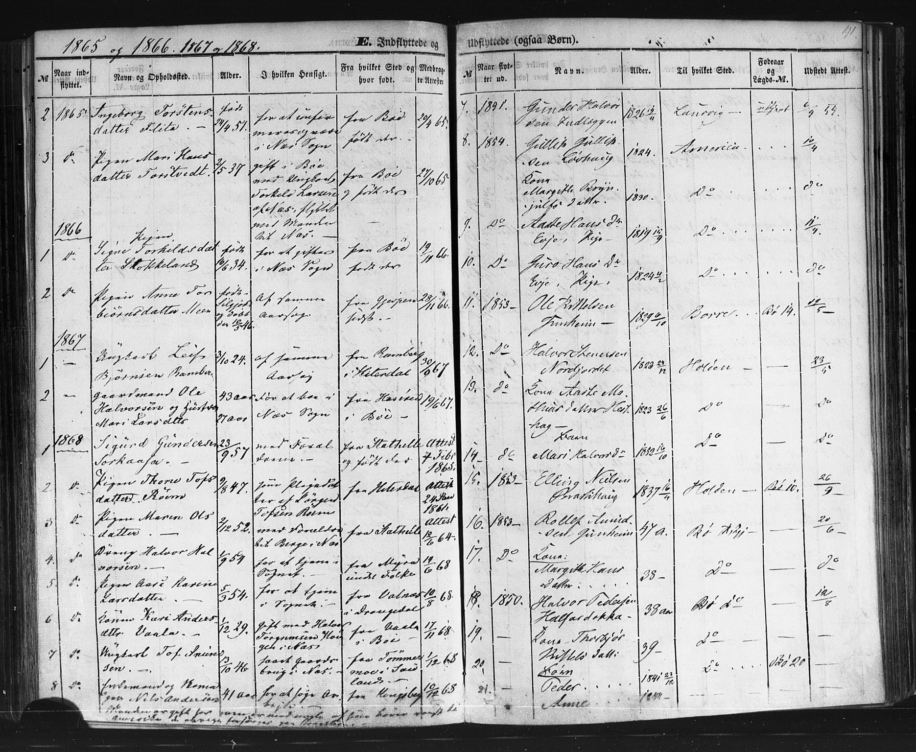 SAKO, Sauherad kirkebøker, F/Fb/L0001: Ministerialbok nr. II 1, 1851-1877, s. 191