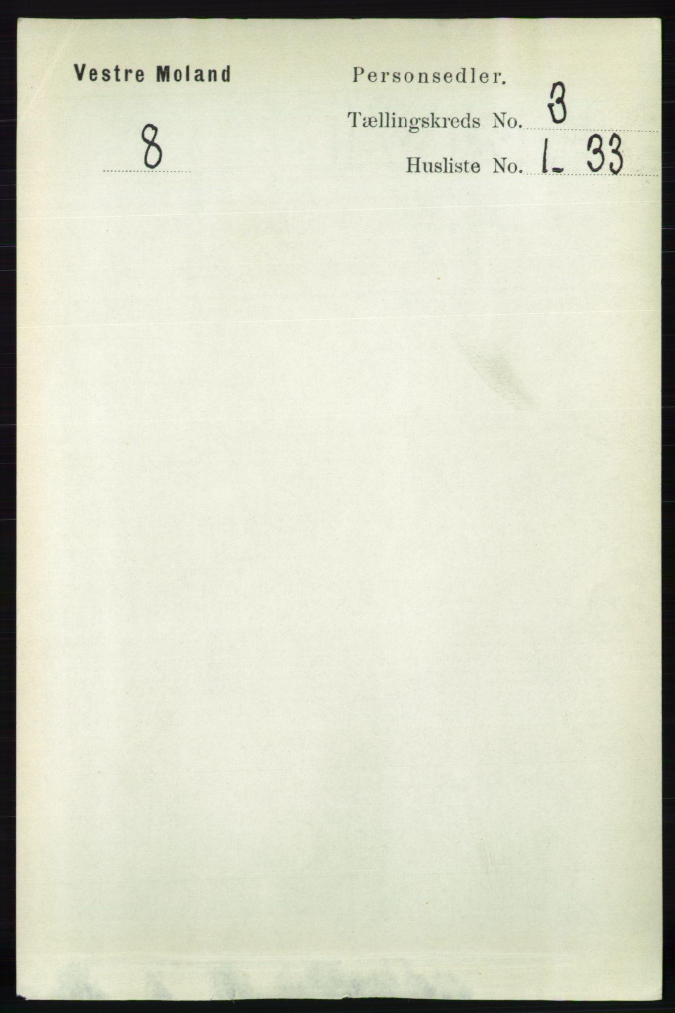 RA, Folketelling 1891 for 0926 Vestre Moland herred, 1891, s. 956