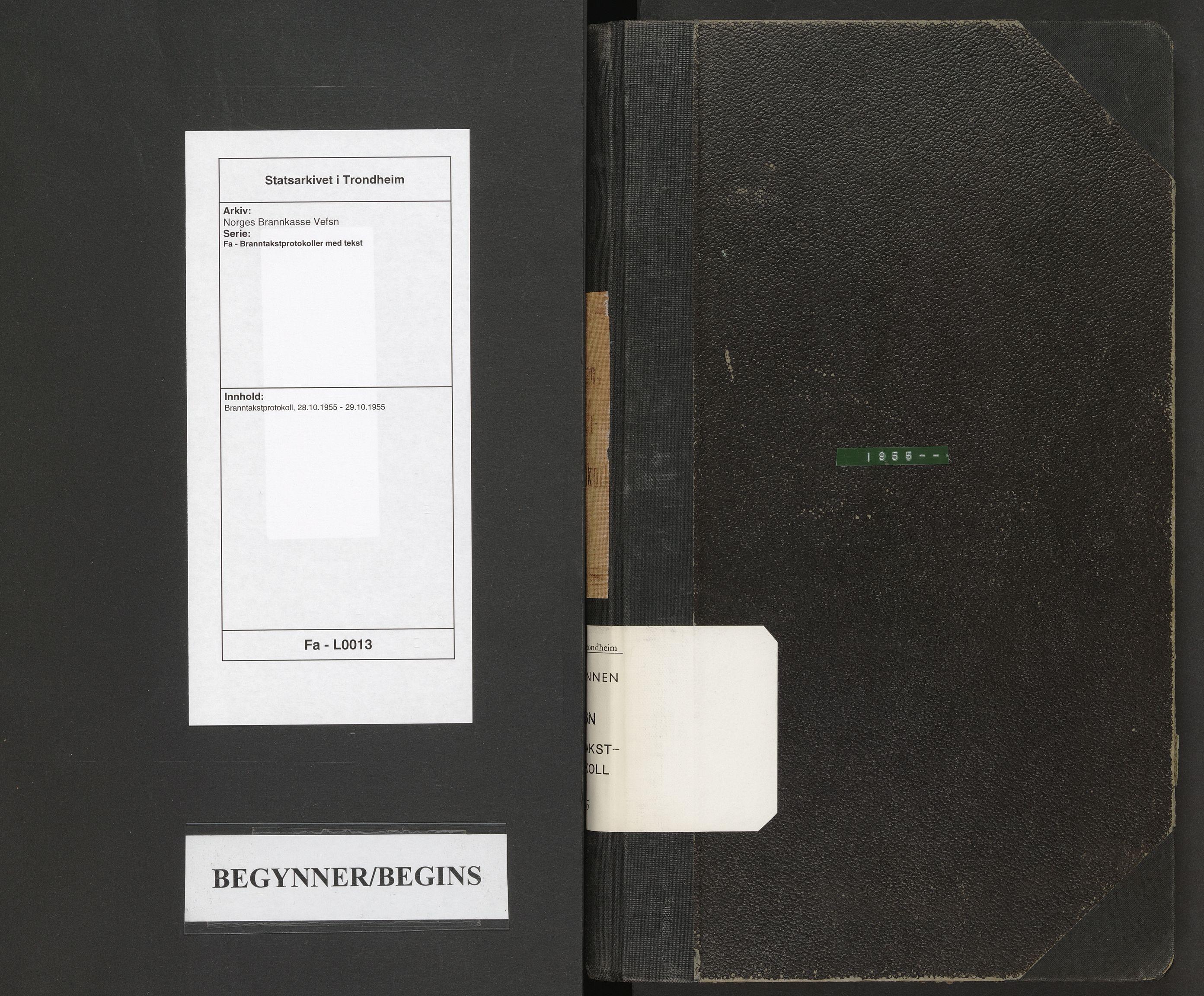SAT, Norges Brannkasse Vefsn, Fa/L0013: Branntakstprotokoll, 1955