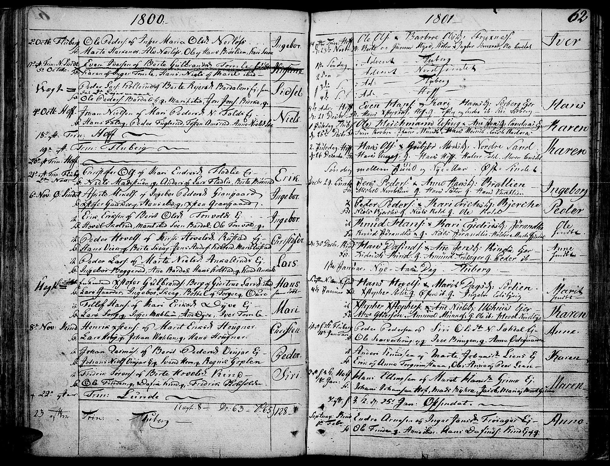 SAH, Land prestekontor, Ministerialbok nr. 6, 1784-1813, s. 62
