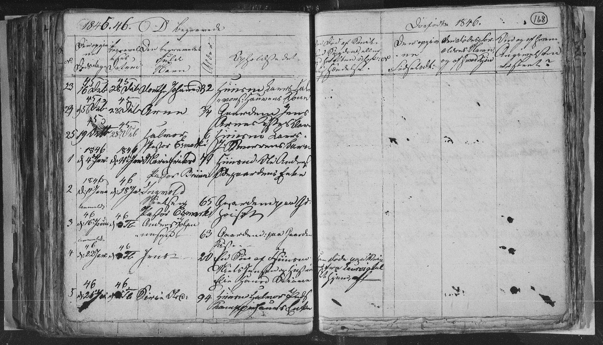 SAKO, Siljan kirkebøker, G/Ga/L0001: Klokkerbok nr. 1, 1827-1847, s. 168