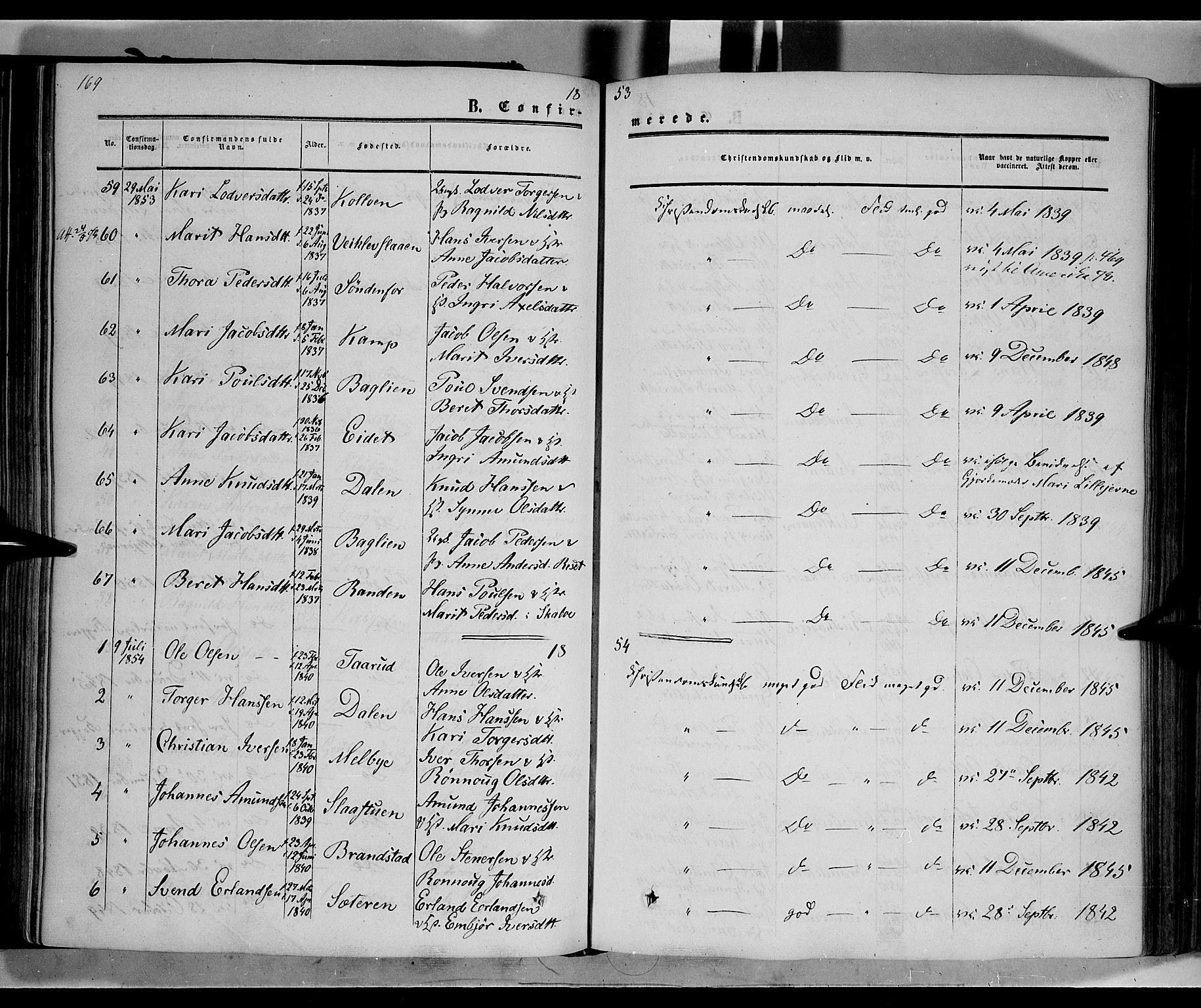 SAH, Nord-Fron prestekontor, Ministerialbok nr. 1, 1851-1864, s. 169