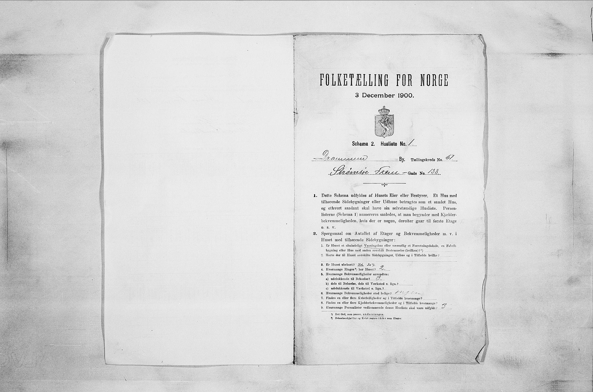 RA, Folketelling 1900 for 0602 Drammen kjøpstad, 1900, s. 8702
