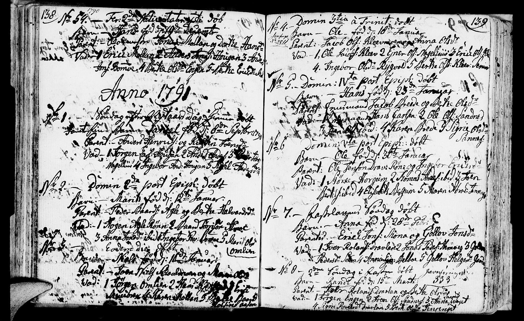 SAT, Ministerialprotokoller, klokkerbøker og fødselsregistre - Nord-Trøndelag, 749/L0468: Ministerialbok nr. 749A02, 1787-1817, s. 138-139