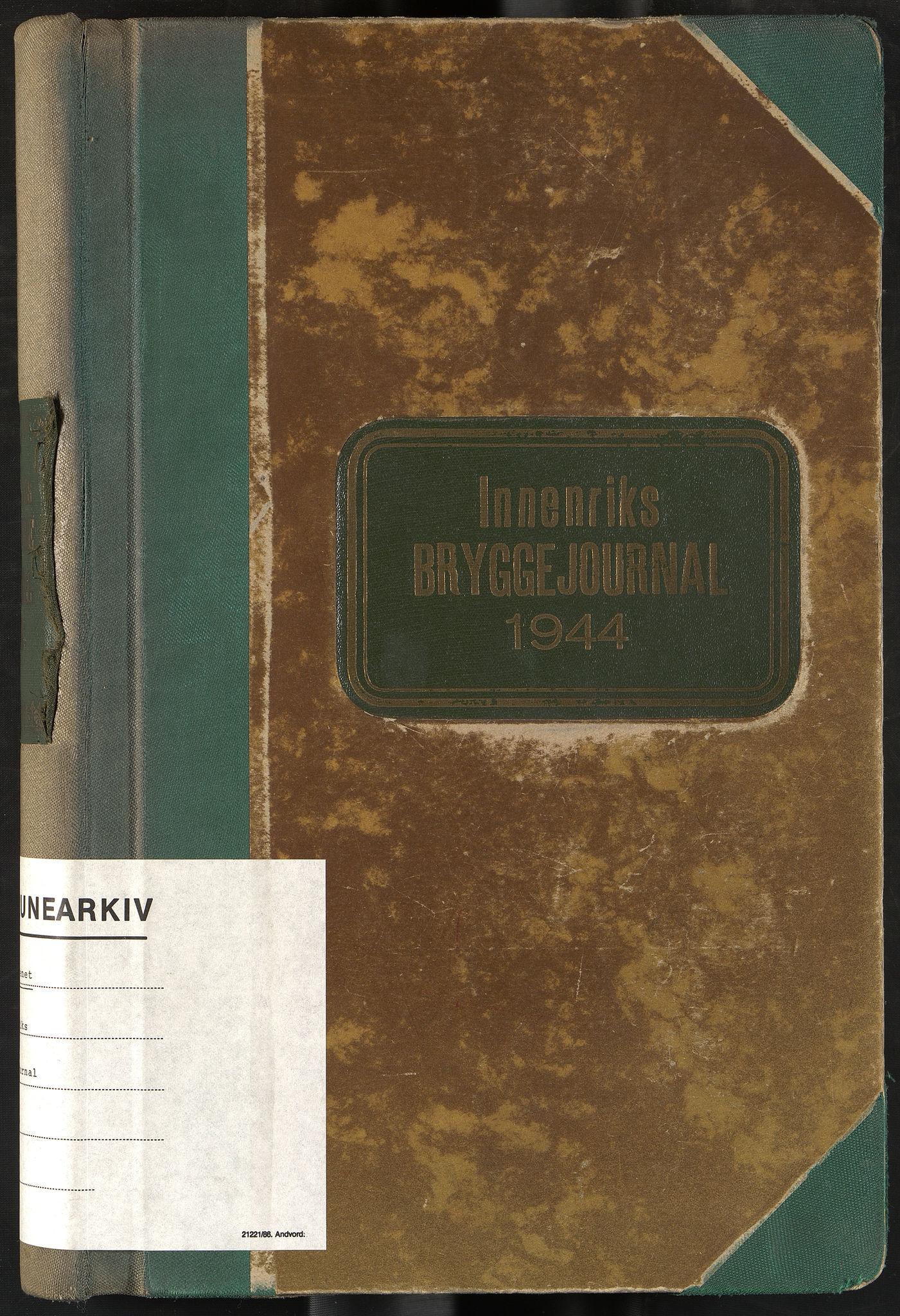 OBA, Oslo havnevesen, Fa/Fad/L0056: Innenriks bryggejournal, 1944