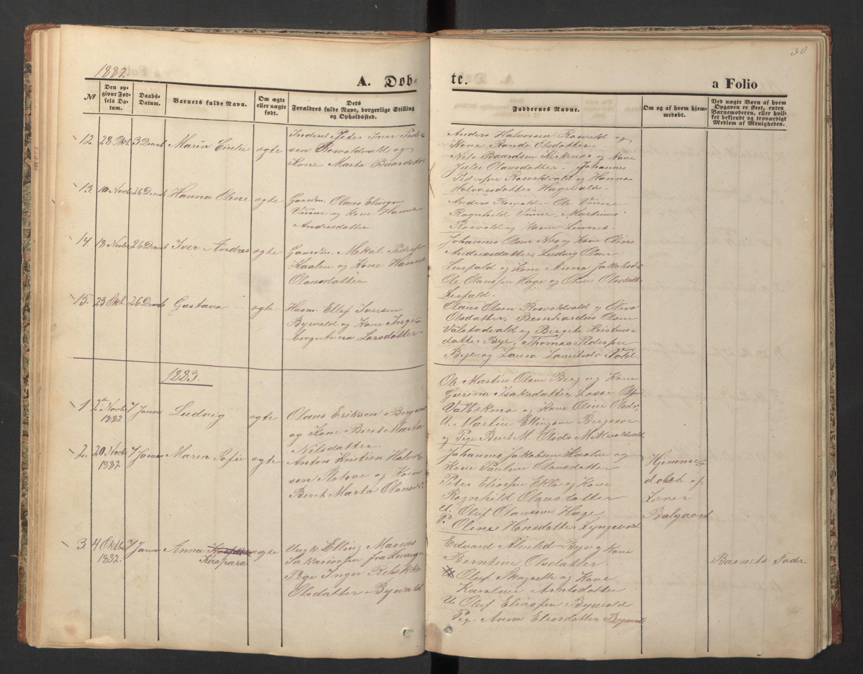 SAT, Ministerialprotokoller, klokkerbøker og fødselsregistre - Nord-Trøndelag, 726/L0271: Klokkerbok nr. 726C02, 1869-1897, s. 30