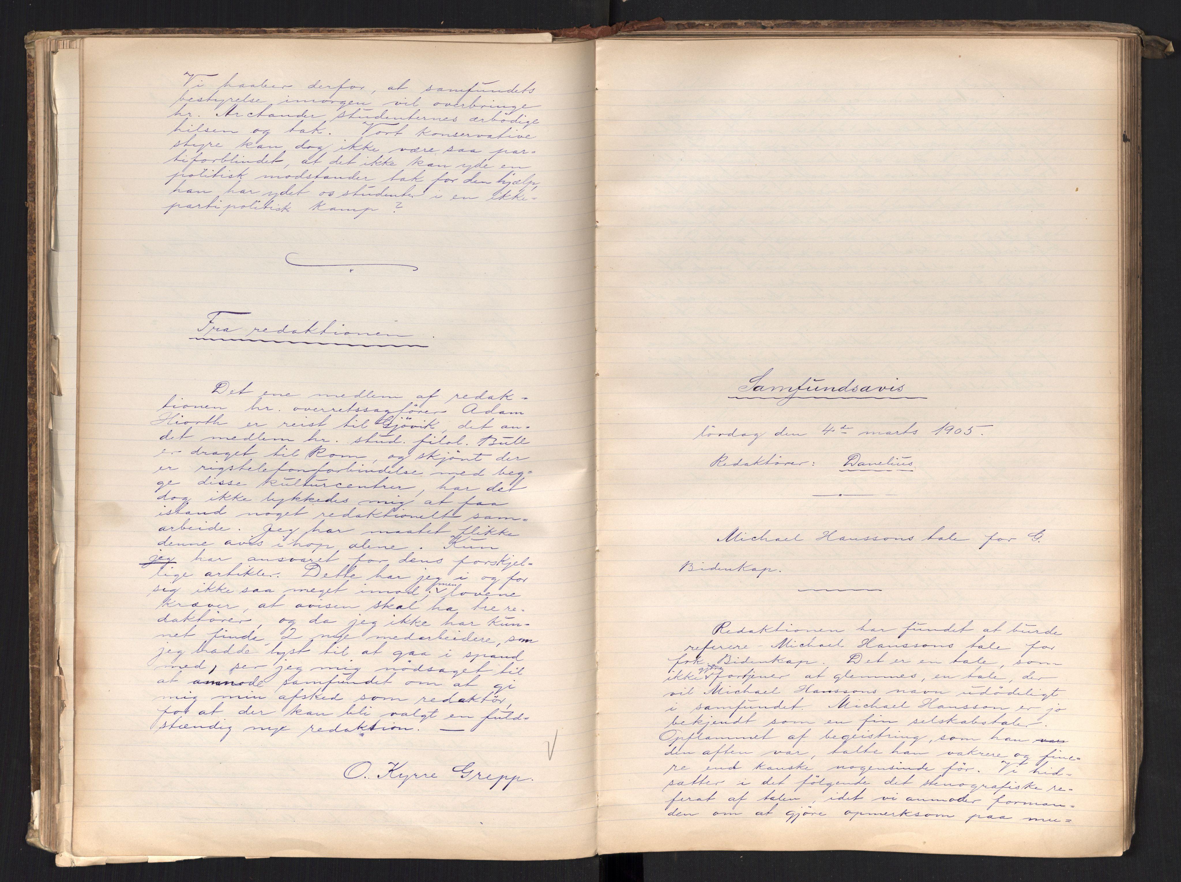 RA, Det Norske Studentersamfund, X/Xa/L0017, 1902-1904, s. 156