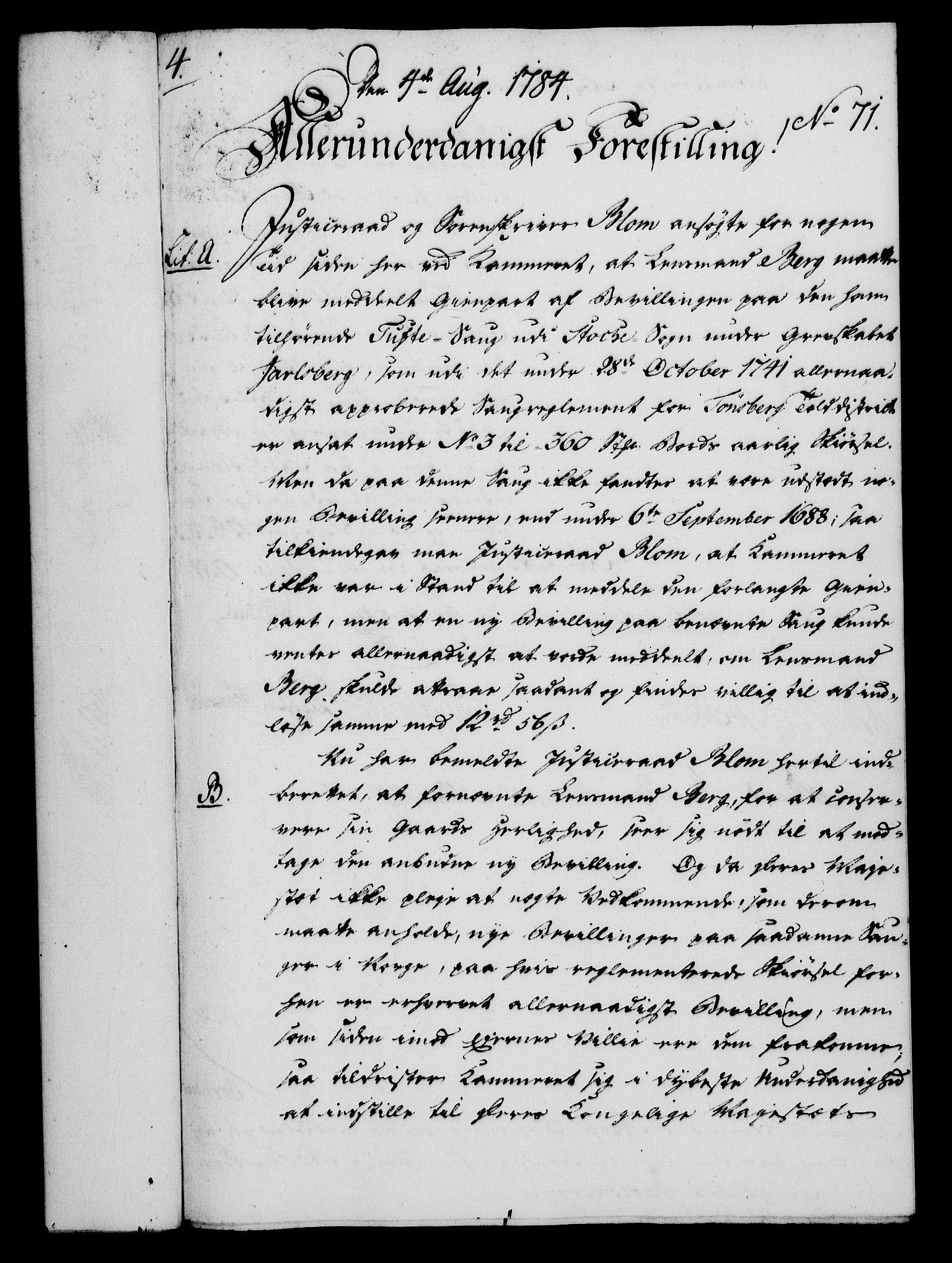 RA, Rentekammeret, Kammerkanselliet, G/Gf/Gfa/L0066: Norsk relasjons- og resolusjonsprotokoll (merket RK 52.66), 1784, s. 510