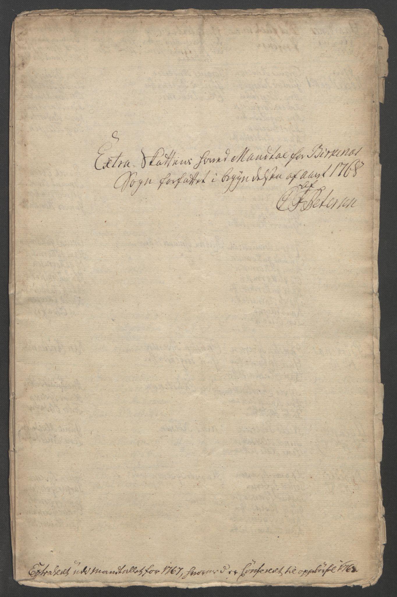 RA, Rentekammeret inntil 1814, Reviderte regnskaper, Fogderegnskap, R39/L2424: Ekstraskatten Nedenes, 1762-1767, s. 504