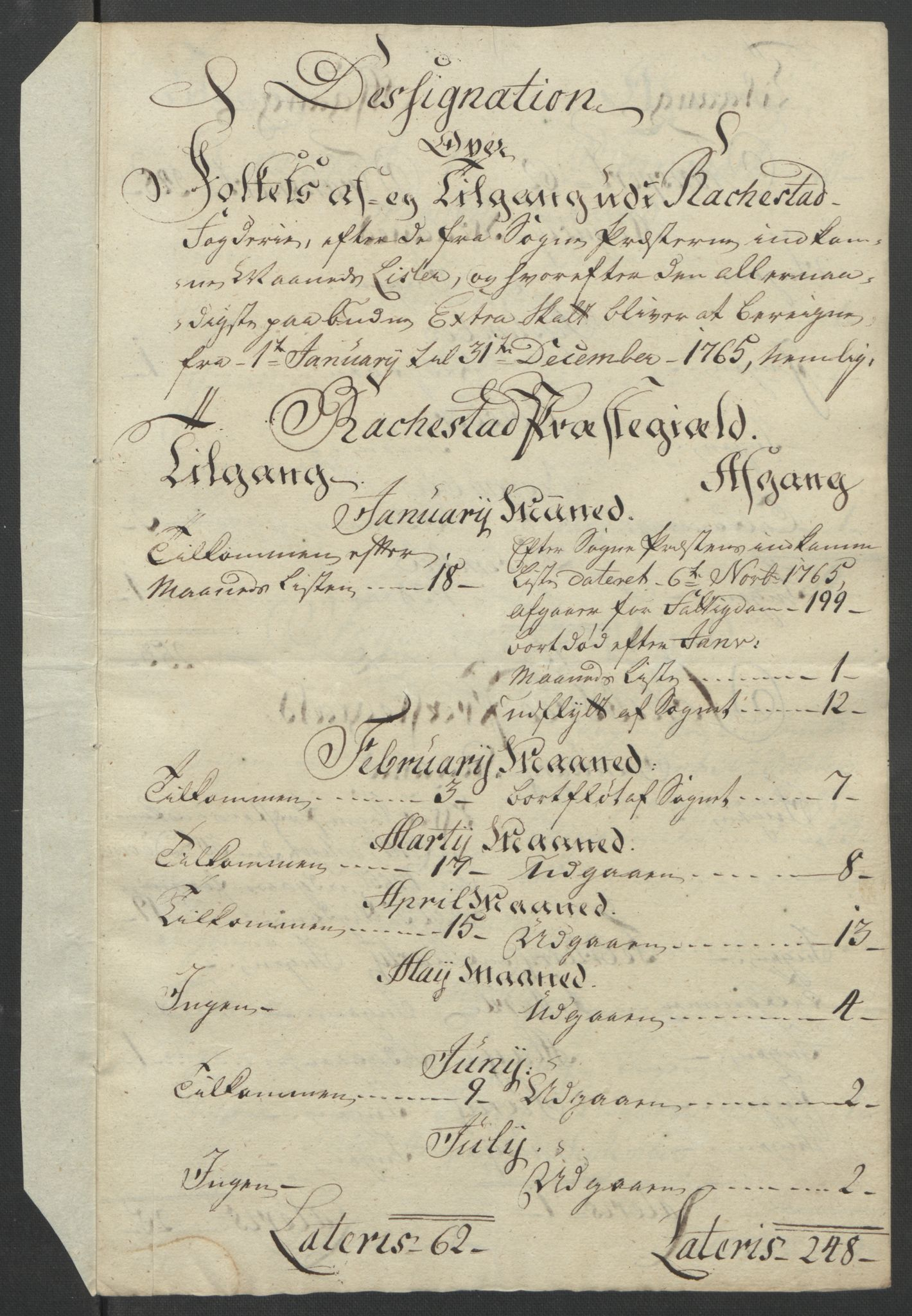 RA, Rentekammeret inntil 1814, Reviderte regnskaper, Fogderegnskap, R07/L0413: Ekstraskatten Rakkestad, Heggen og Frøland, 1762-1772, s. 281