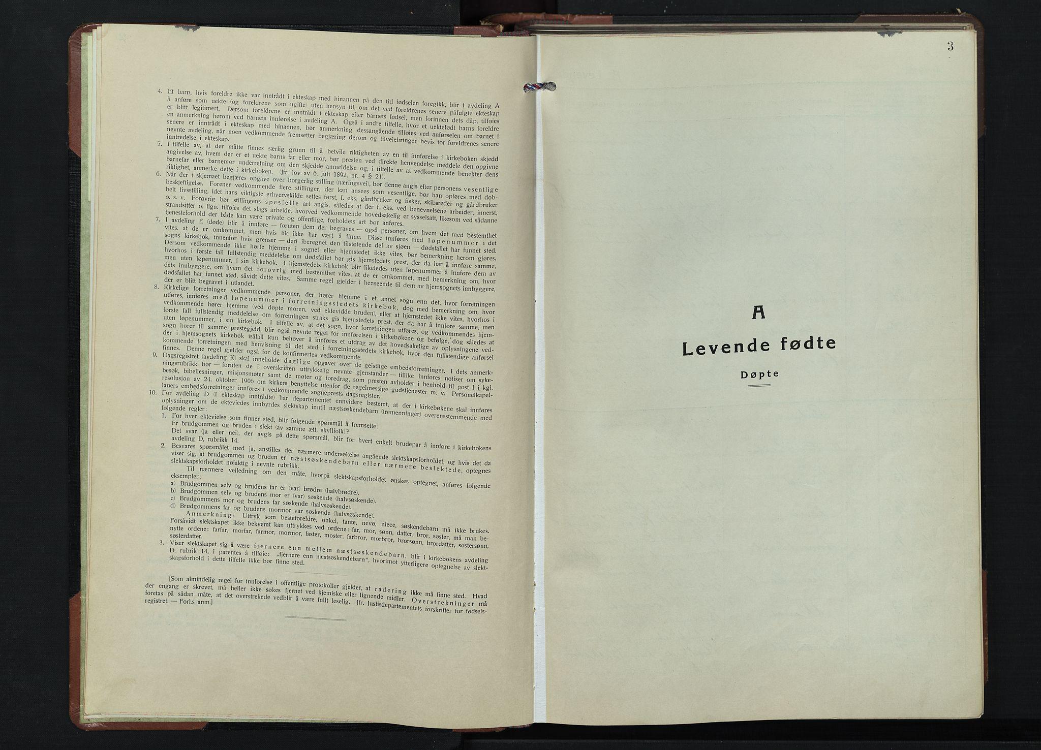 SAH, Gjøvik prestekontor, Klokkerbok nr. 1, 1941-1951, s. 3