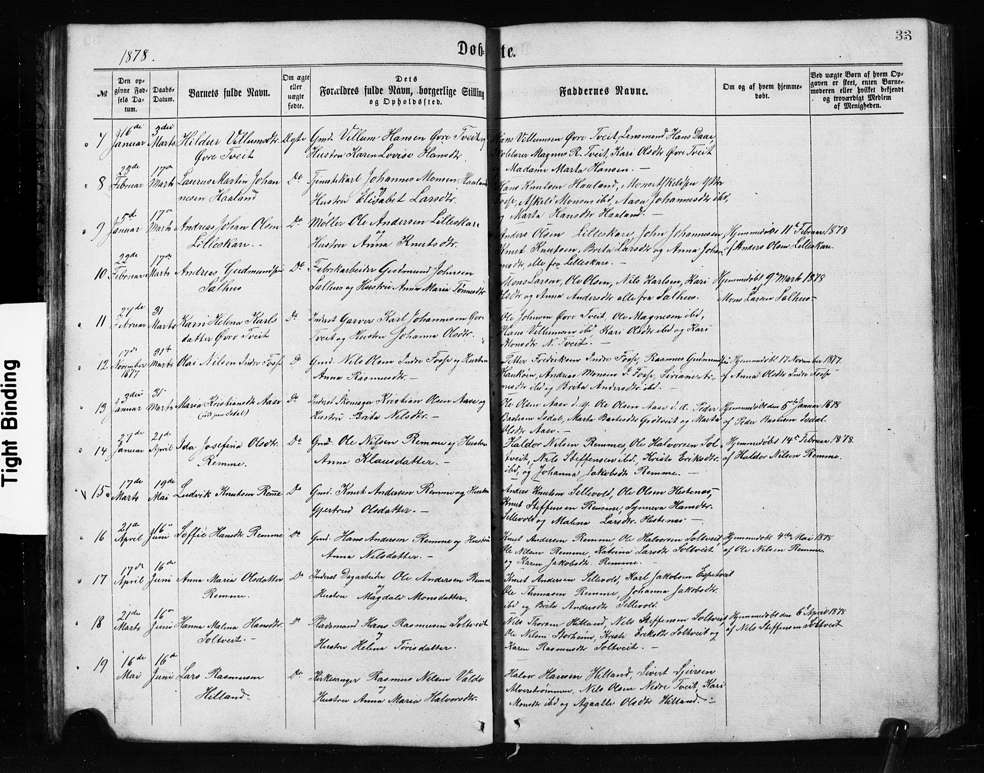 SAB, Alversund Sokneprestembete, H/Hab: Klokkerbok nr. A 2, 1864-1905, s. 33