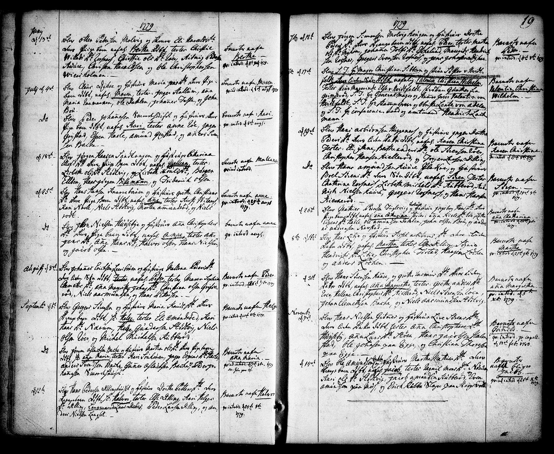 SAO, Rygge prestekontor Kirkebøker, F/Fa/L0002: Ministerialbok nr. 2, 1771-1814, s. 19