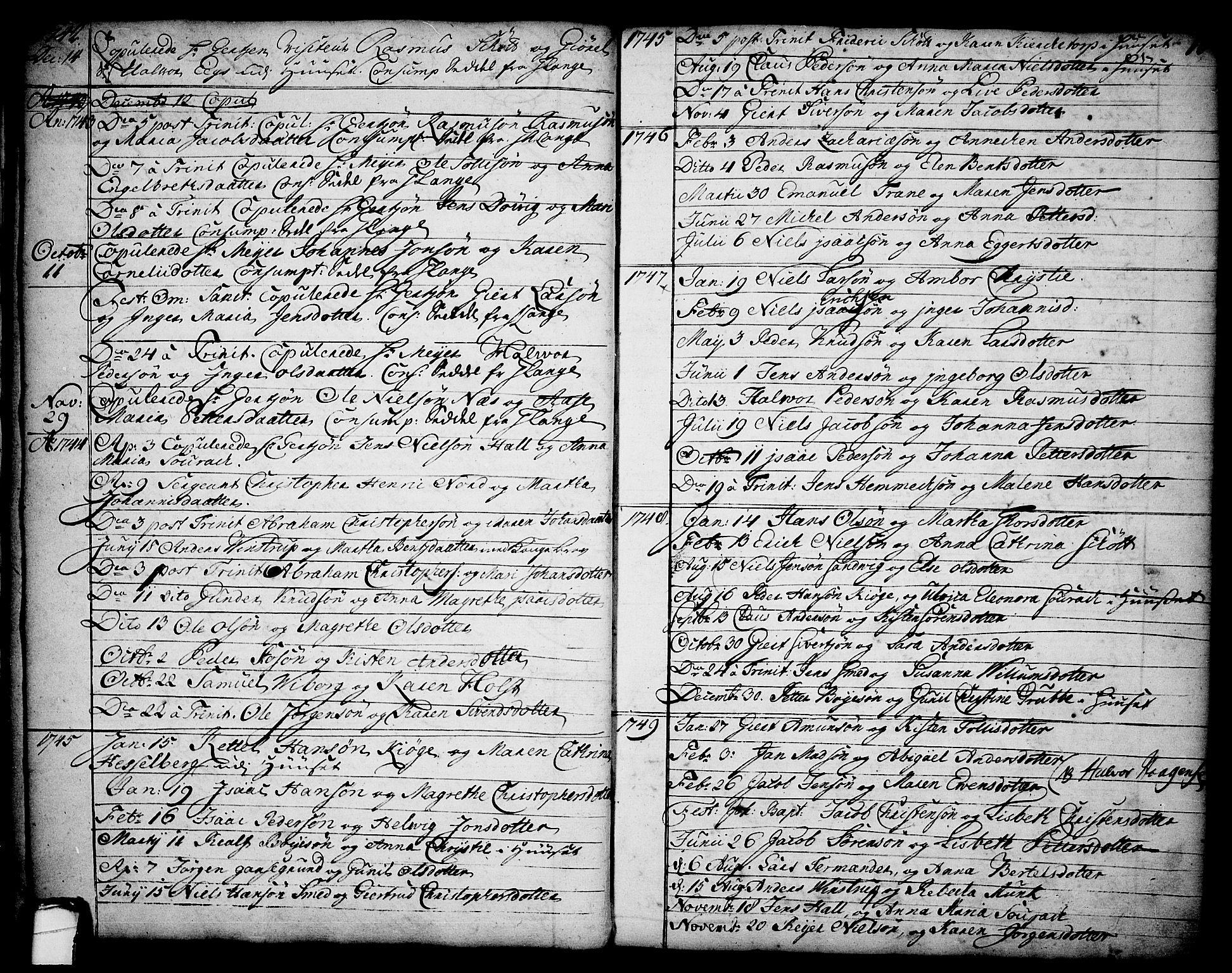SAKO, Brevik kirkebøker, F/Fa/L0002: Ministerialbok nr. 2, 1720-1764, s. 16