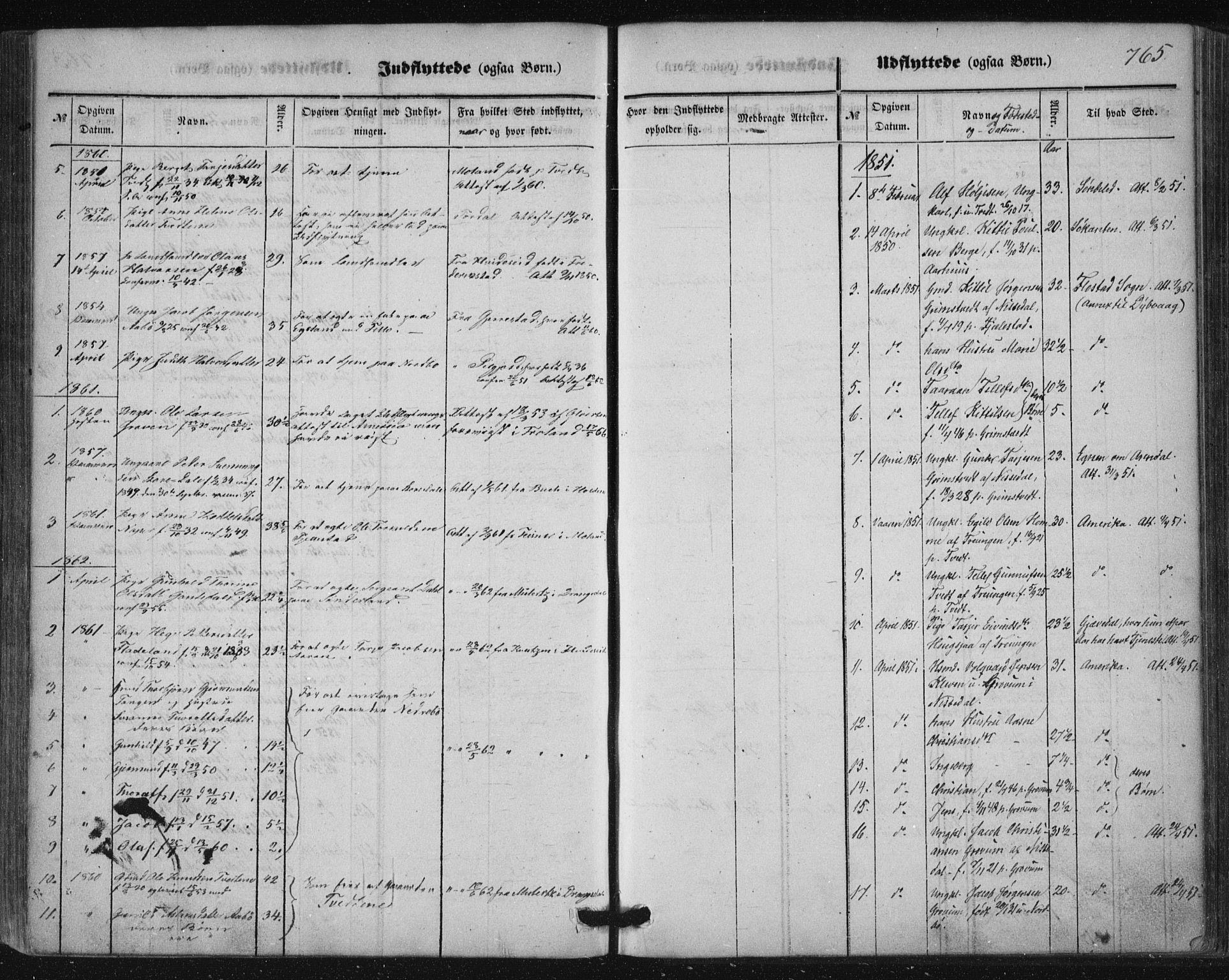 SAKO, Nissedal kirkebøker, F/Fa/L0003: Ministerialbok nr. I 3, 1846-1870, s. 764-765