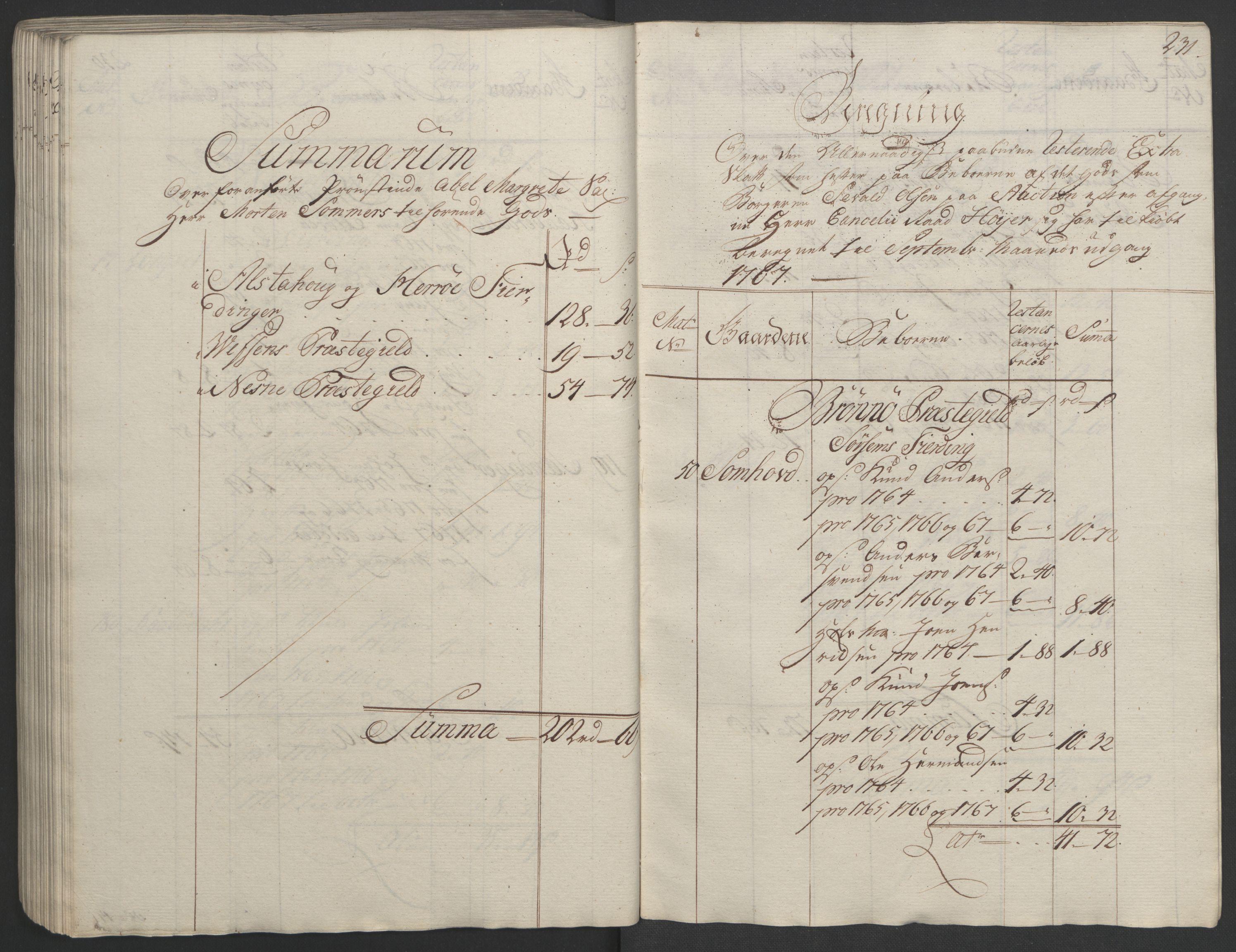 RA, Rentekammeret inntil 1814, Realistisk ordnet avdeling, Ol/L0023: [Gg 10]: Ekstraskatten, 23.09.1762. Helgeland (restanseregister), 1767-1772, s. 227