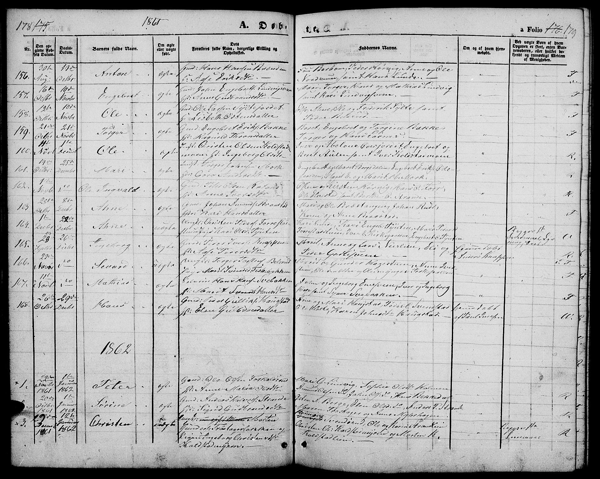 SAH, Ringebu prestekontor, Klokkerbok nr. 3, 1854-1866, s. 178-179