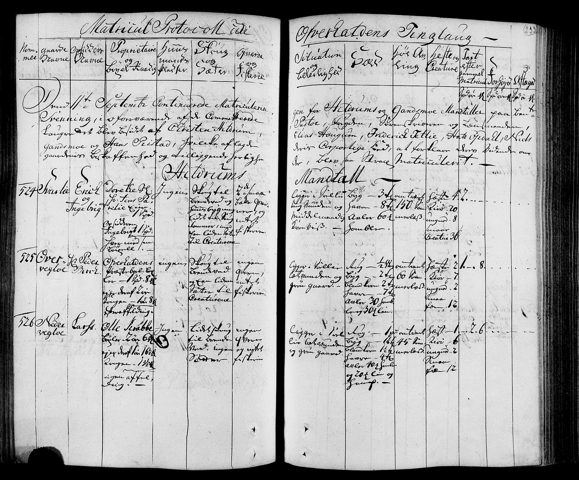 RA, Rentekammeret inntil 1814, Realistisk ordnet avdeling, N/Nb/Nbf/L0168: Namdalen eksaminasjonsprotokoll, 1723, s. 232b-233a