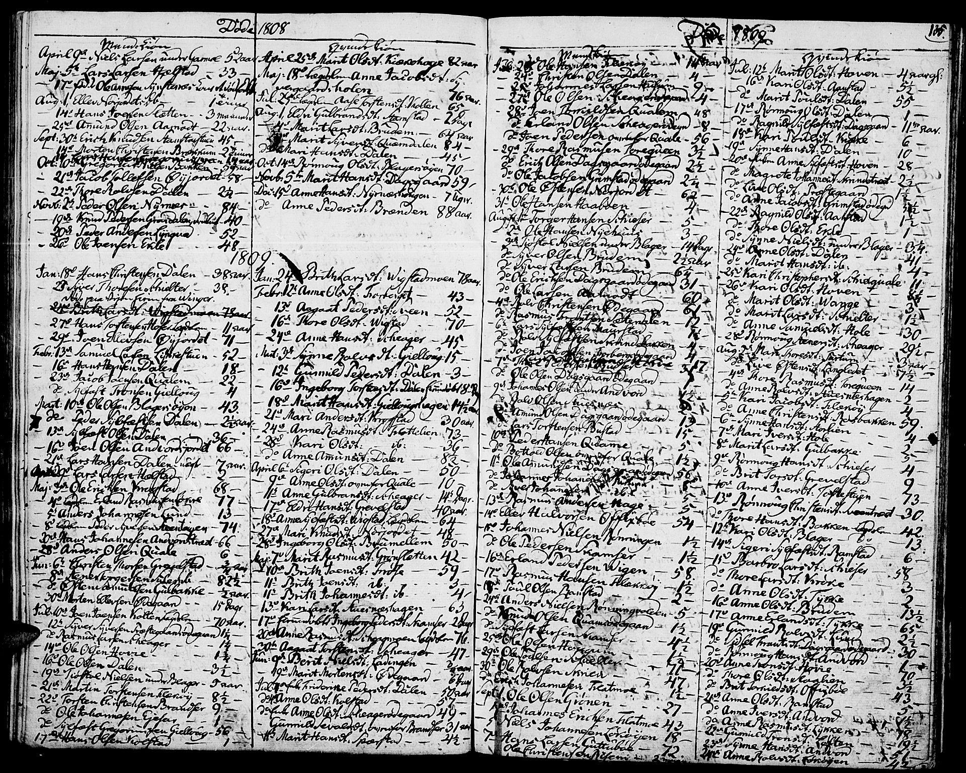 SAH, Lom prestekontor, K/L0003: Ministerialbok nr. 3, 1801-1825, s. 135