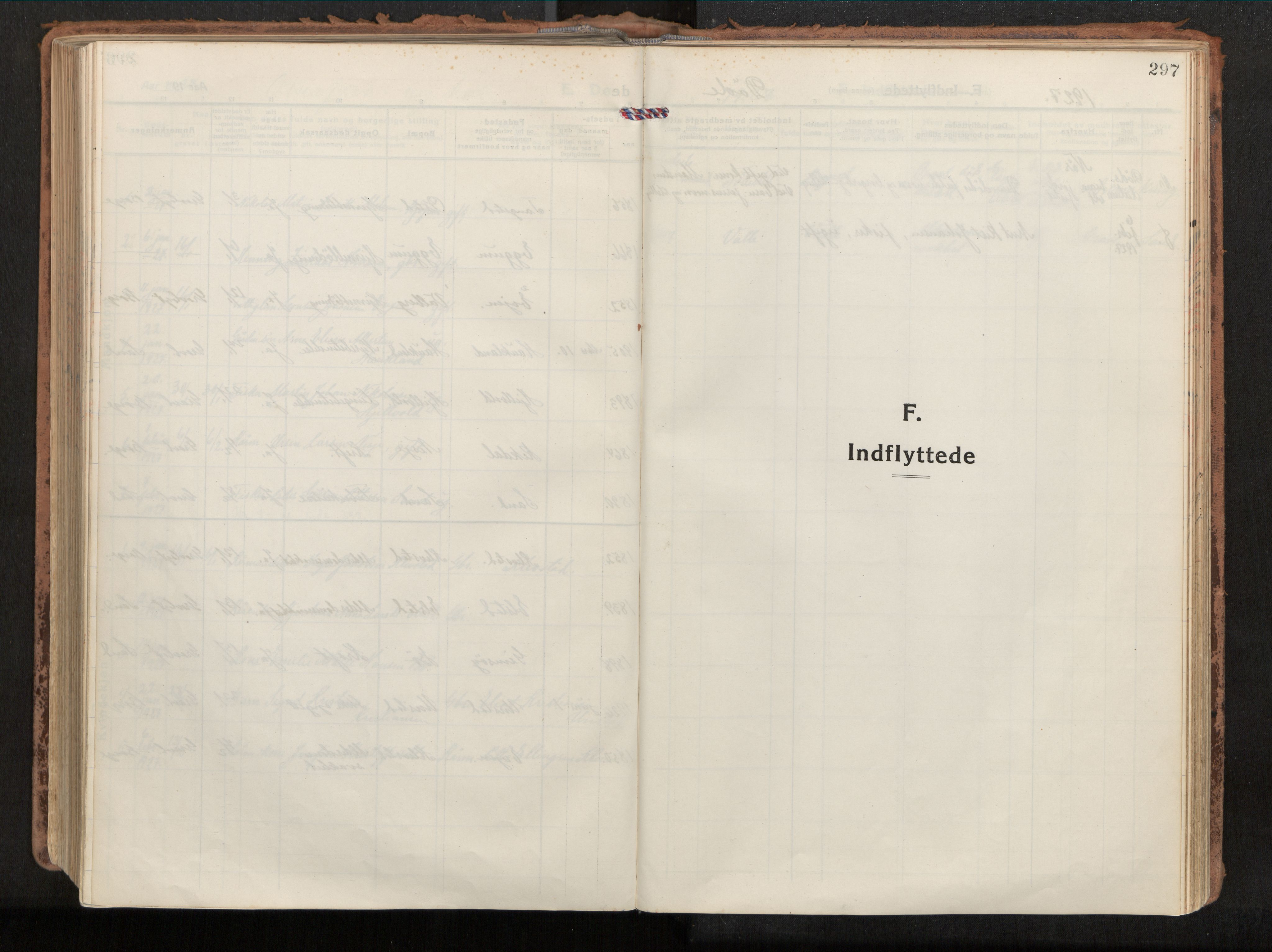 SAT, Ministerialprotokoller, klokkerbøker og fødselsregistre - Nordland, 880/L1136: Ministerialbok nr. 880A10, 1919-1927, s. 297