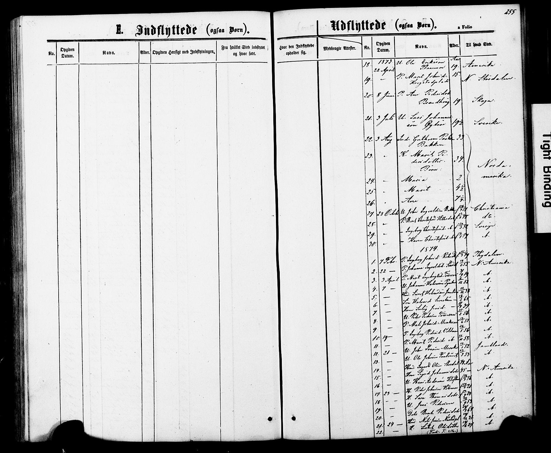 SAT, Ministerialprotokoller, klokkerbøker og fødselsregistre - Nord-Trøndelag, 706/L0049: Klokkerbok nr. 706C01, 1864-1895, s. 255