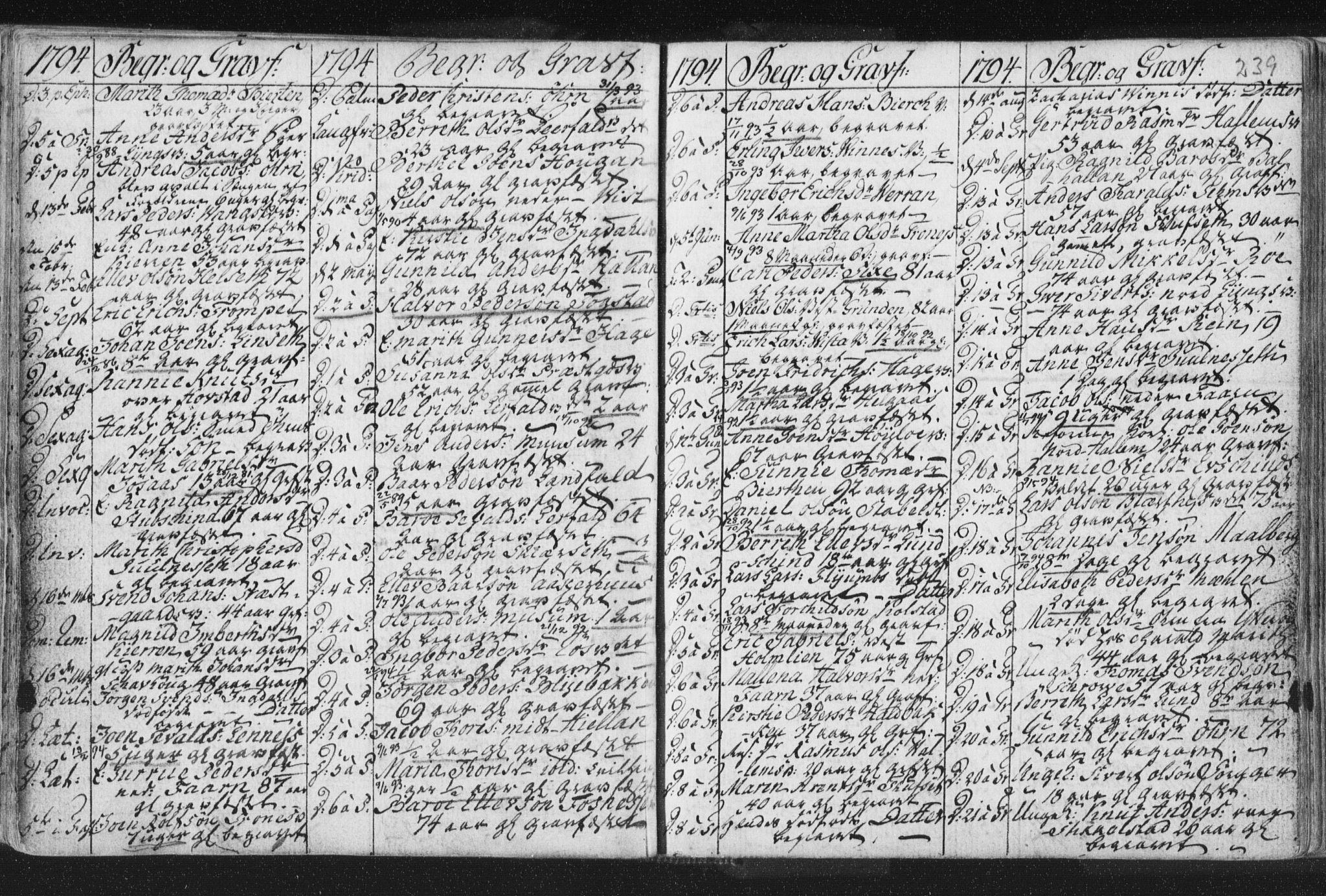 SAT, Ministerialprotokoller, klokkerbøker og fødselsregistre - Nord-Trøndelag, 723/L0232: Ministerialbok nr. 723A03, 1781-1804, s. 239