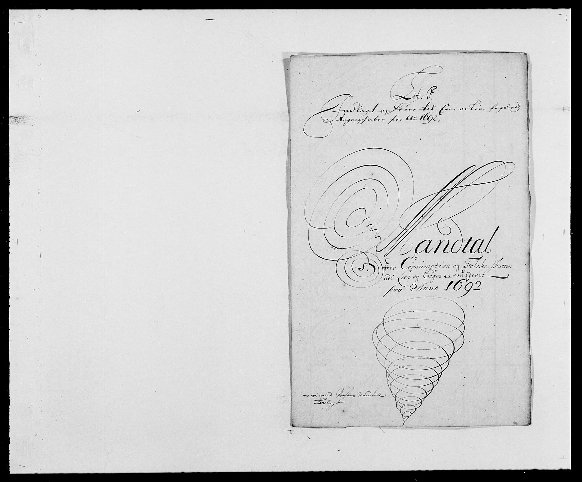 RA, Rentekammeret inntil 1814, Reviderte regnskaper, Fogderegnskap, R28/L1690: Fogderegnskap Eiker og Lier, 1692-1693, s. 87