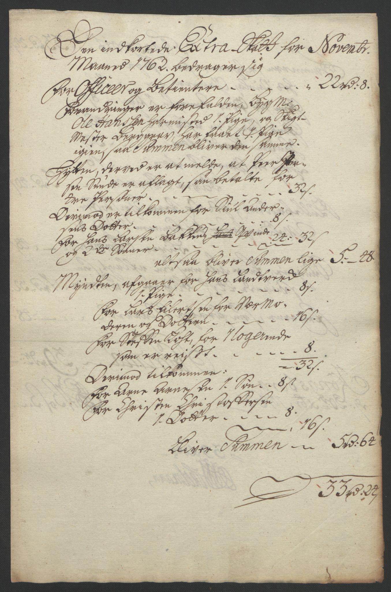 RA, Rentekammeret inntil 1814, Reviderte regnskaper, Bergverksregnskaper, R/Rc/Rca/L0843: Ekstraskatt, 1762-1765, s. 175