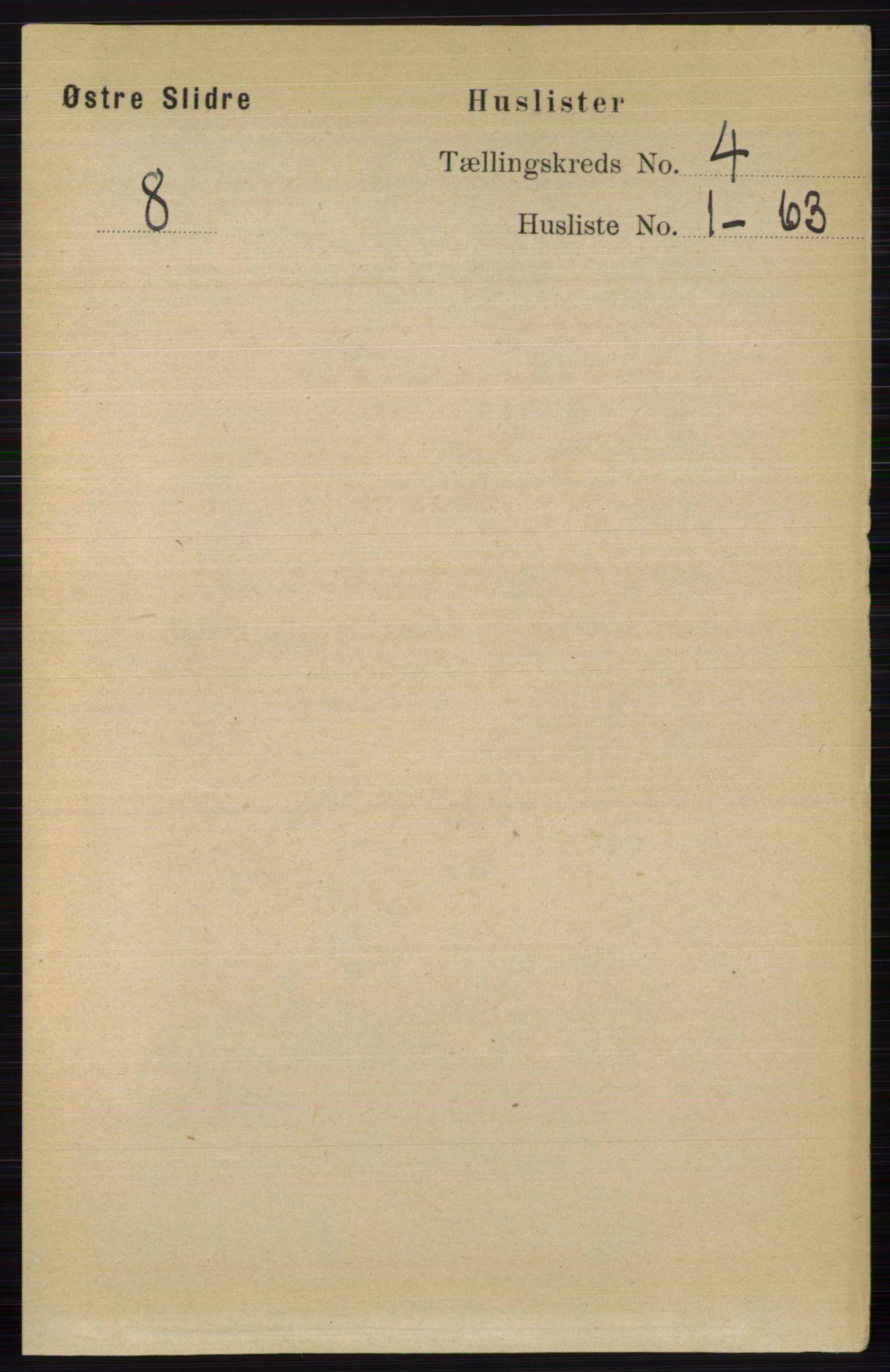 RA, Folketelling 1891 for 0544 Øystre Slidre herred, 1891, s. 1070