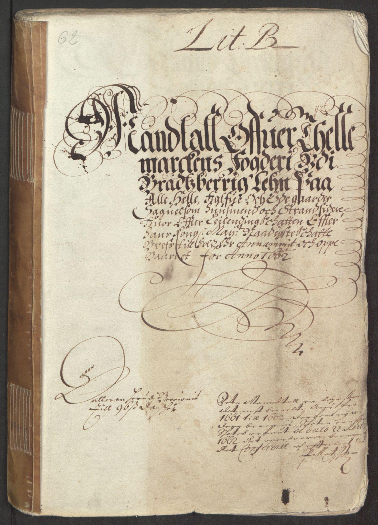 RA, Rentekammeret inntil 1814, Reviderte regnskaper, Fogderegnskap, R35/L2054: Fogderegnskap Øvre og Nedre Telemark, 1662-1663, s. 8